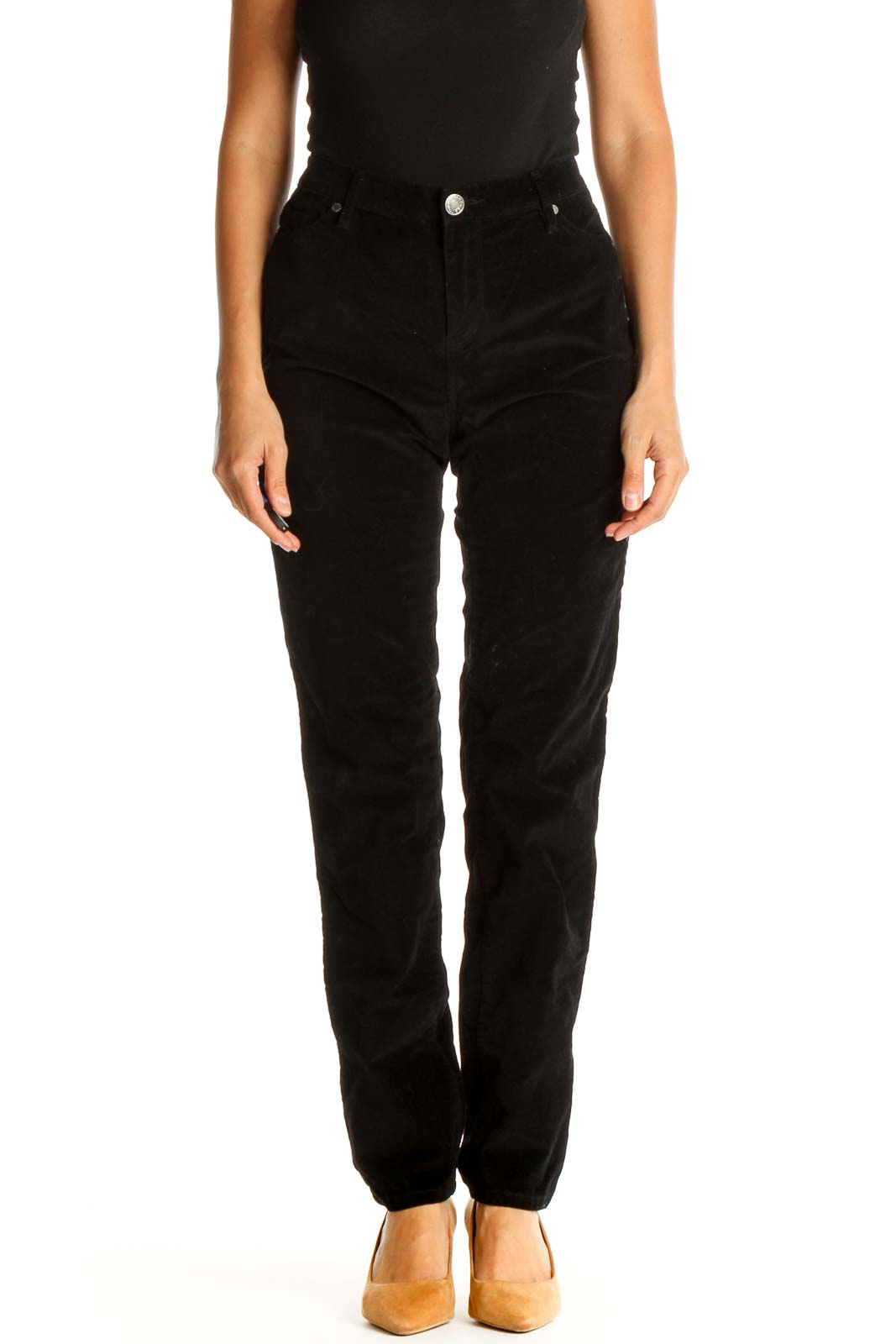Black Casual Pants Front