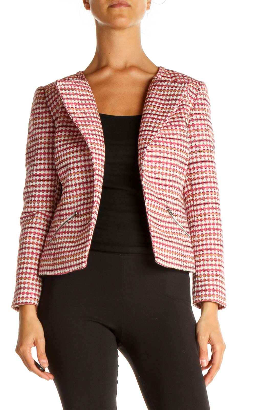 Pink Motorcycle Jacket Front