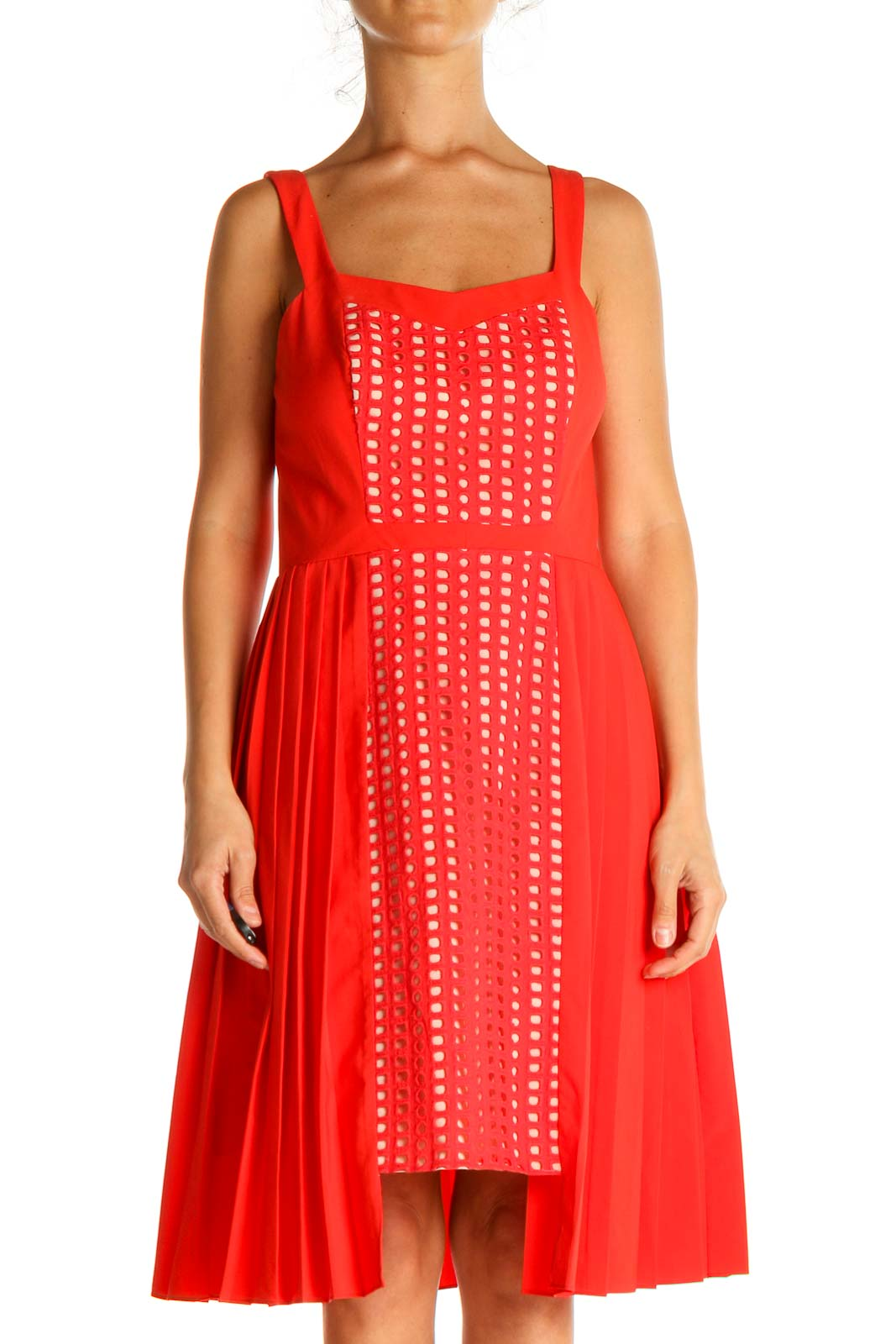 Red Day Fit & Flare Dress Front