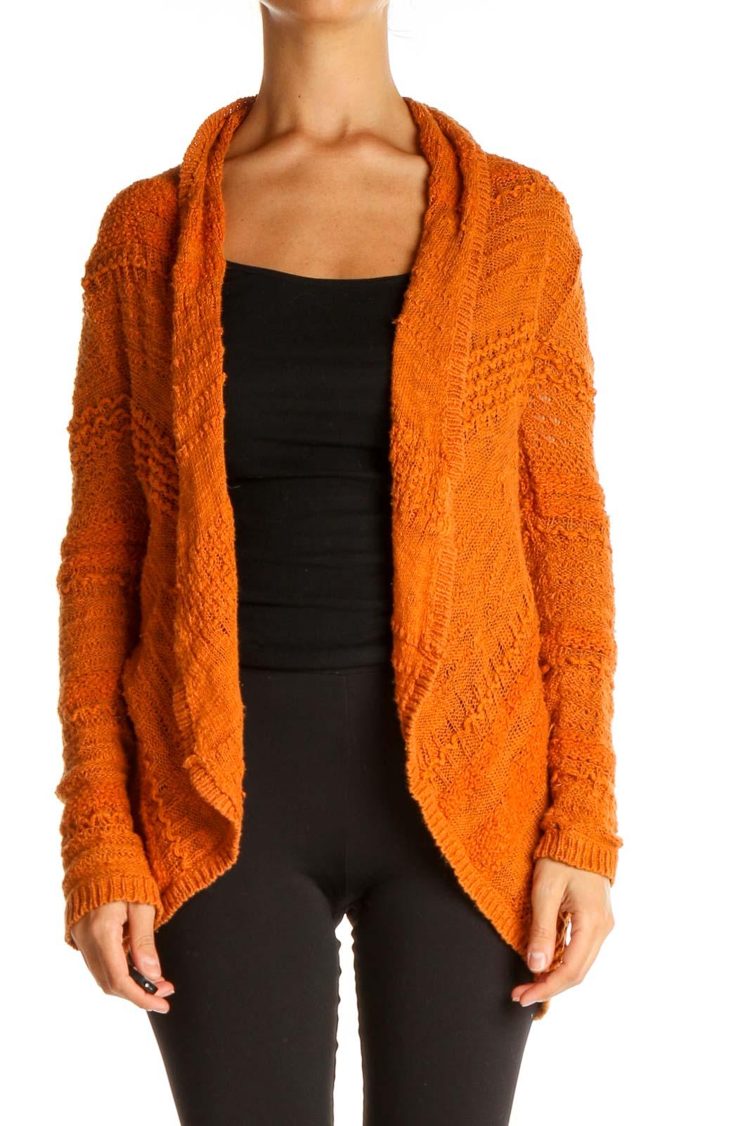 Orange All Day Wear Cardigan Front