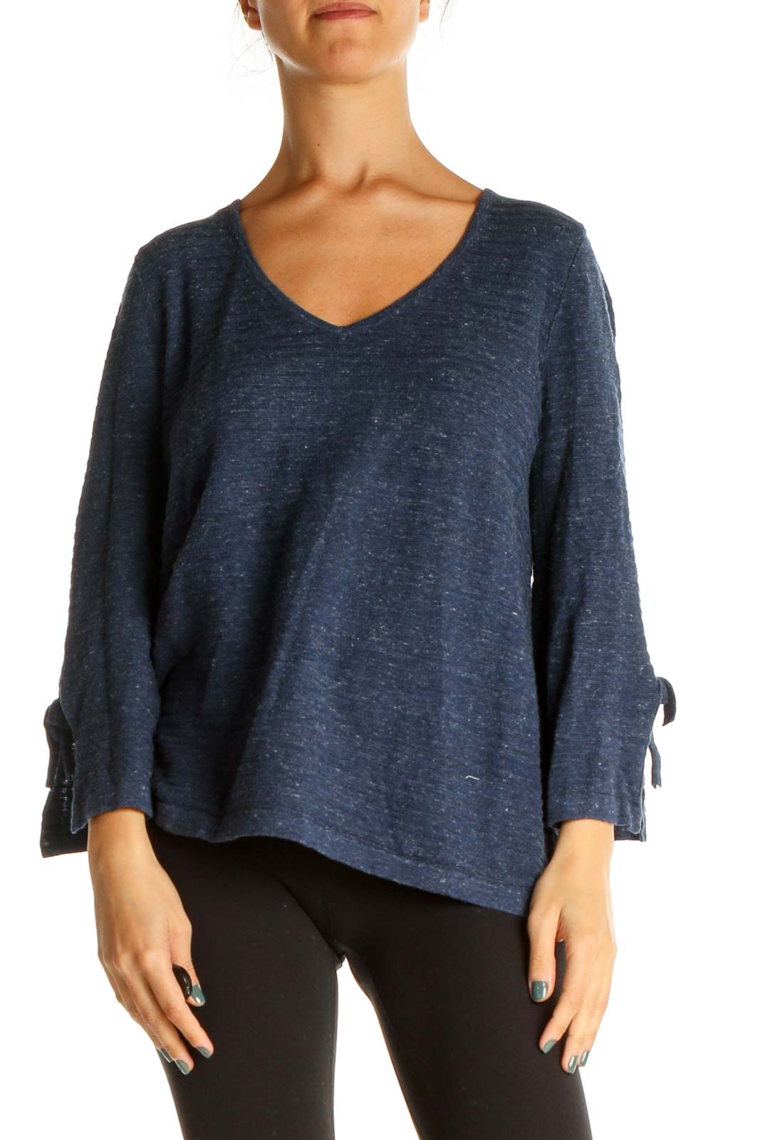 Black Textured Casual Shirt Front