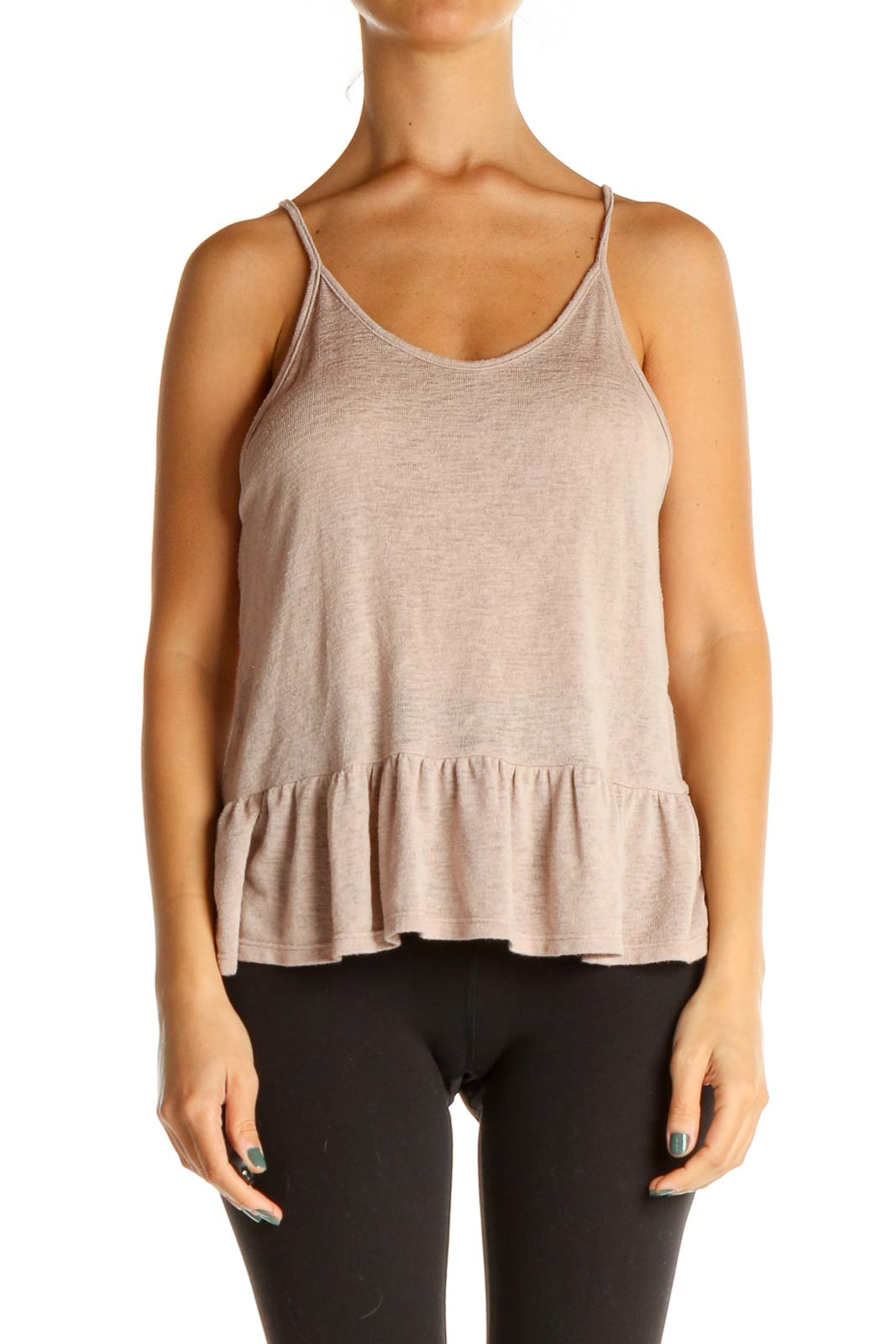 Pink Solid All Day Wear Top Front