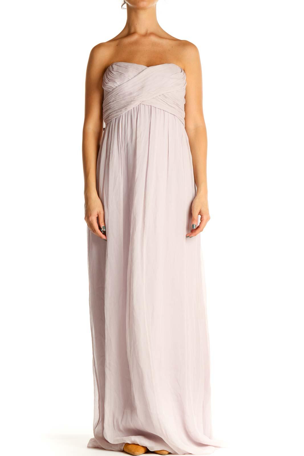 Purple Formal Column Dress Front
