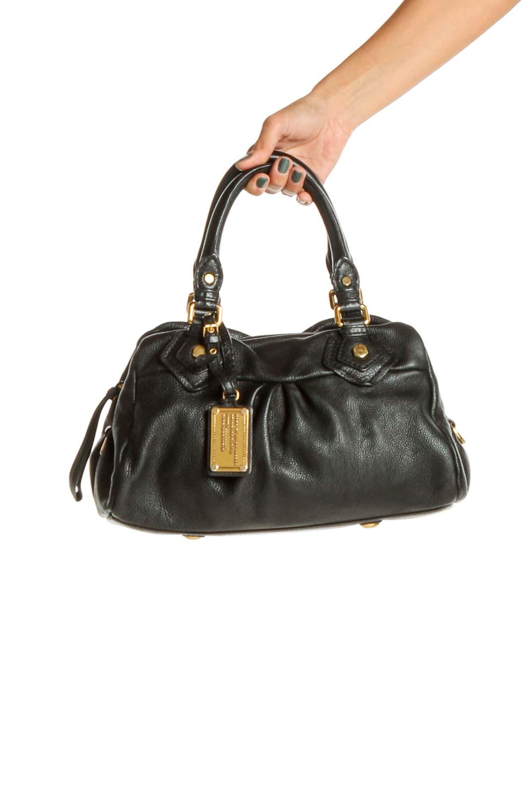 Black Satchel Bag Front