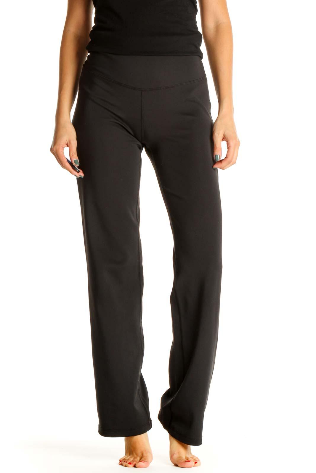 Black Activewear Sweatpants Front
