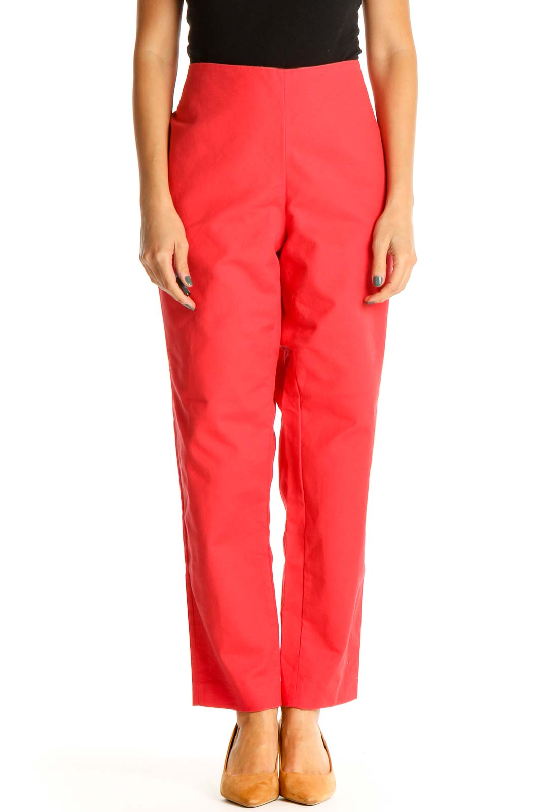 Red Classic Trousers Front