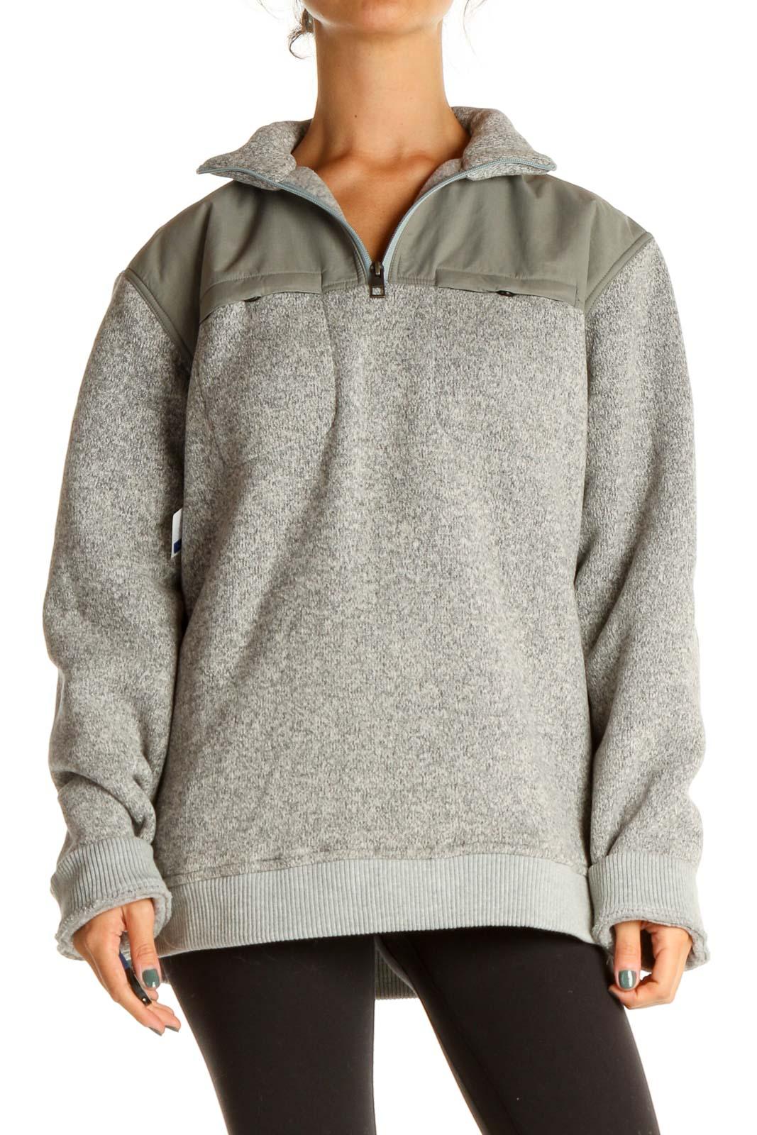 Gray Activewear Sweatshirt Front