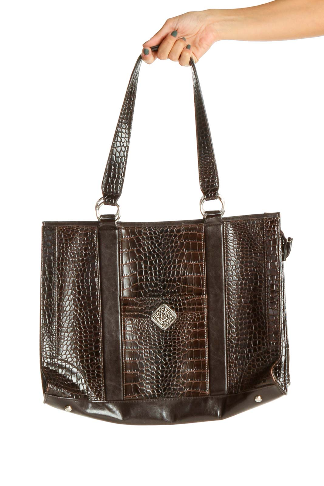 Brown Tote Bag Front