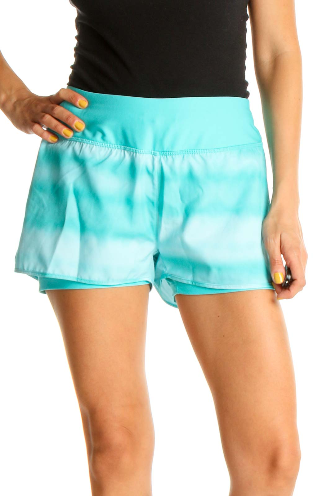 Blue Activewear Shorts Front