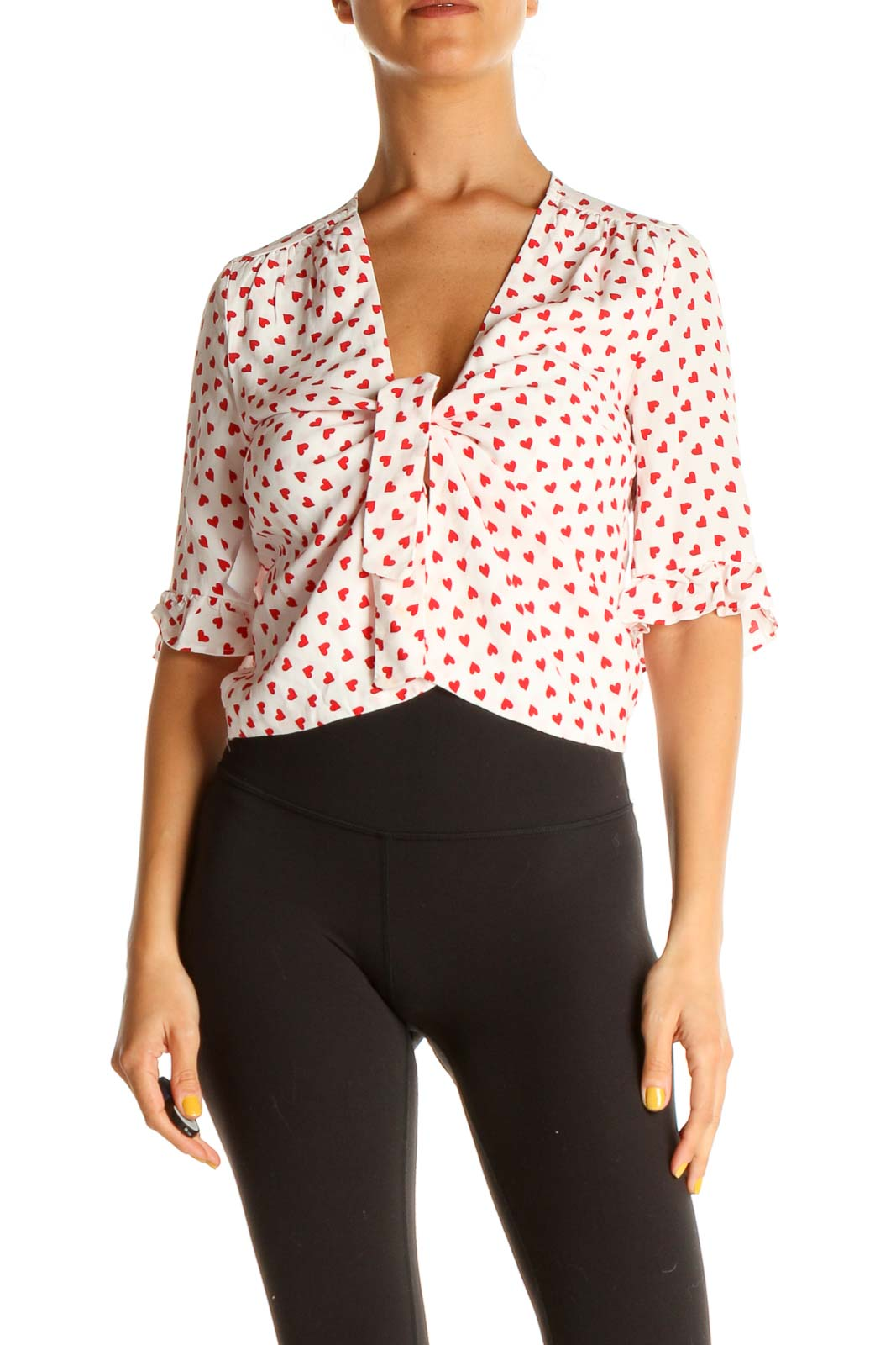 Red Heart Polka Dot All Day Wear Shirt Front