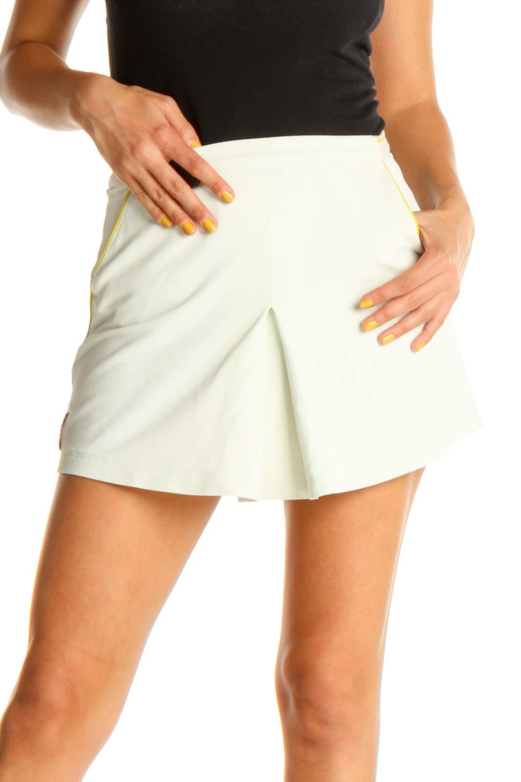 Blue Vintage Activewear Mini Skirt Front
