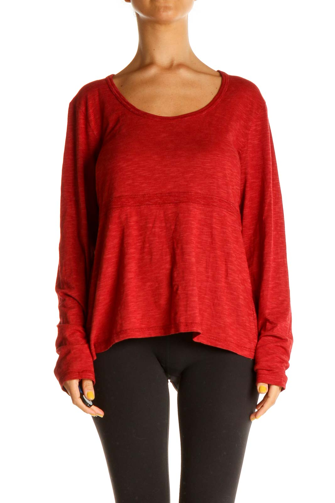 Red All Day Wear Top Front