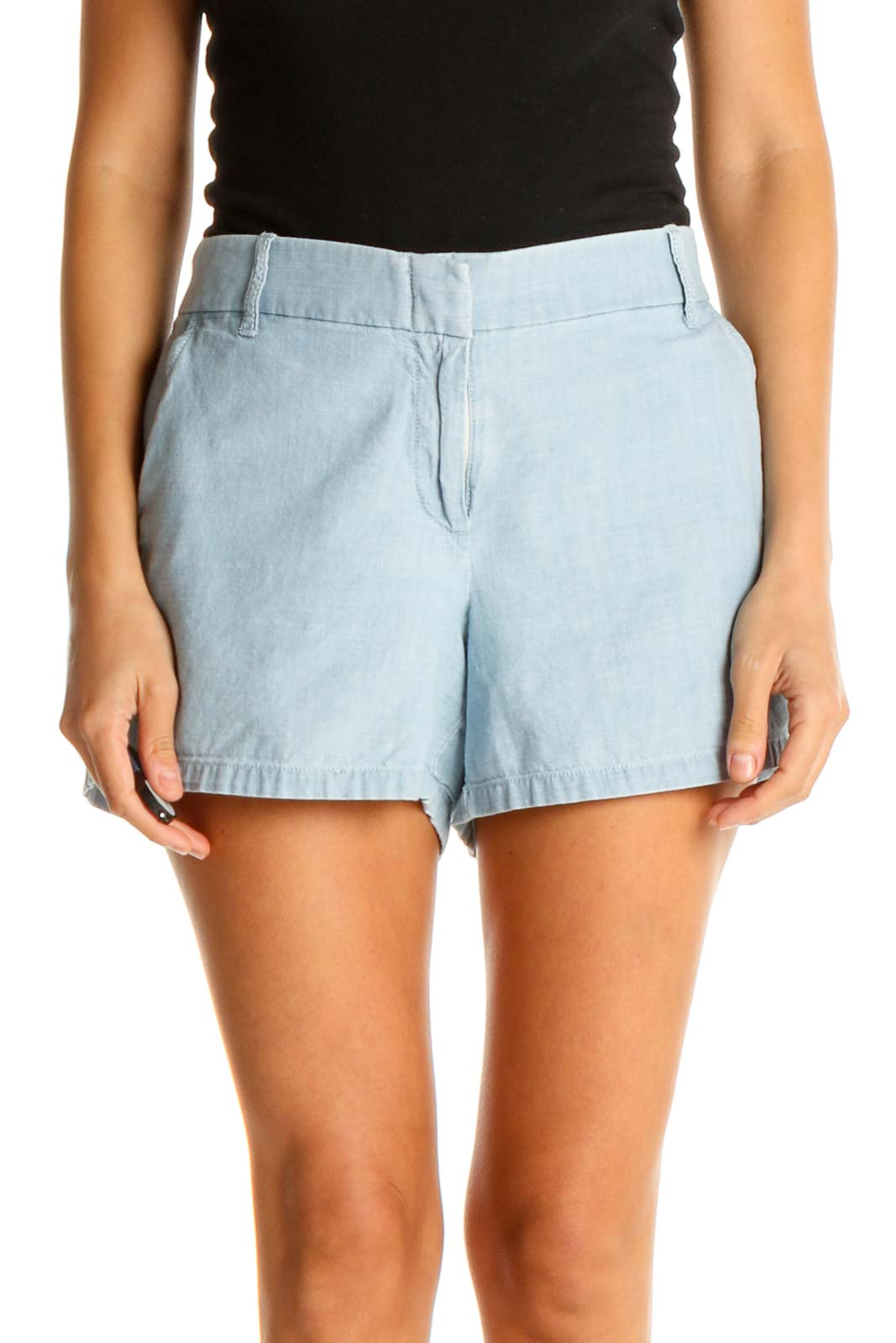 Blue All Day Wear Shorts Front
