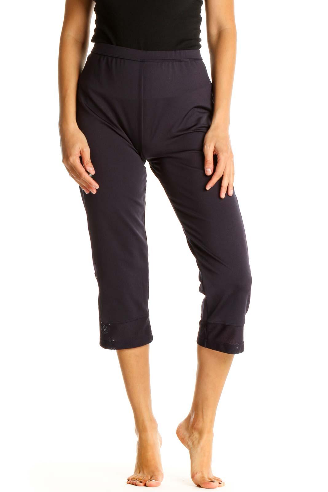 Purple Classic Capri Pants Front