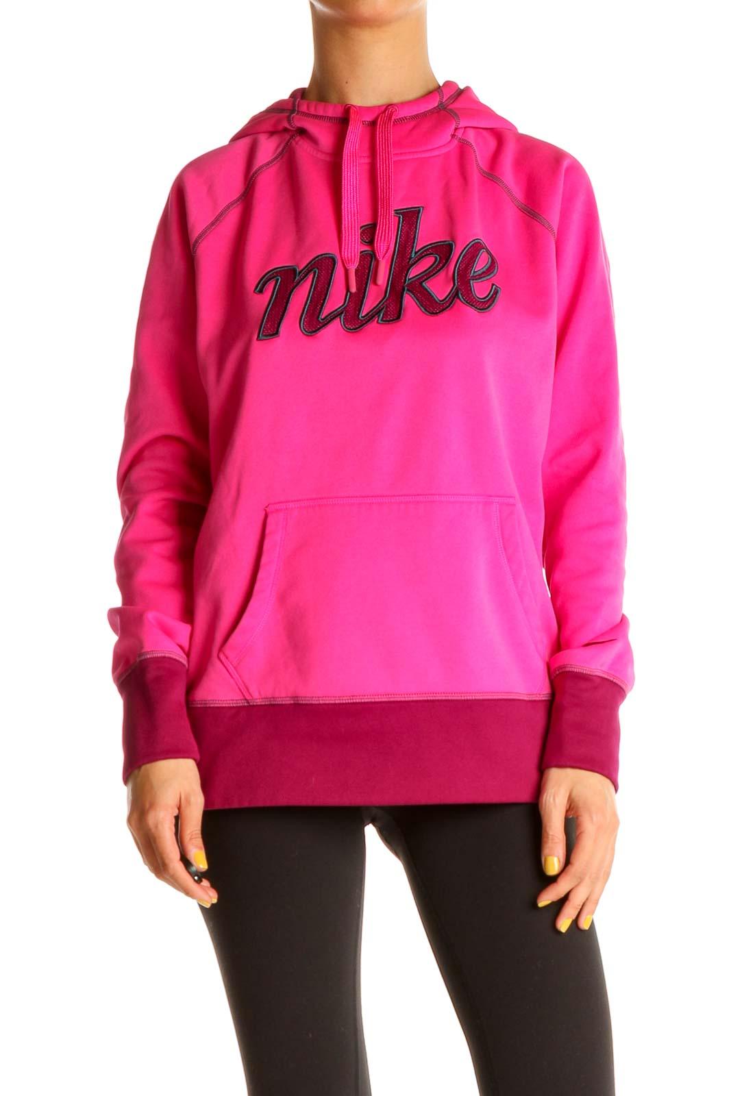 Pink Activewear Sweatshirt Front