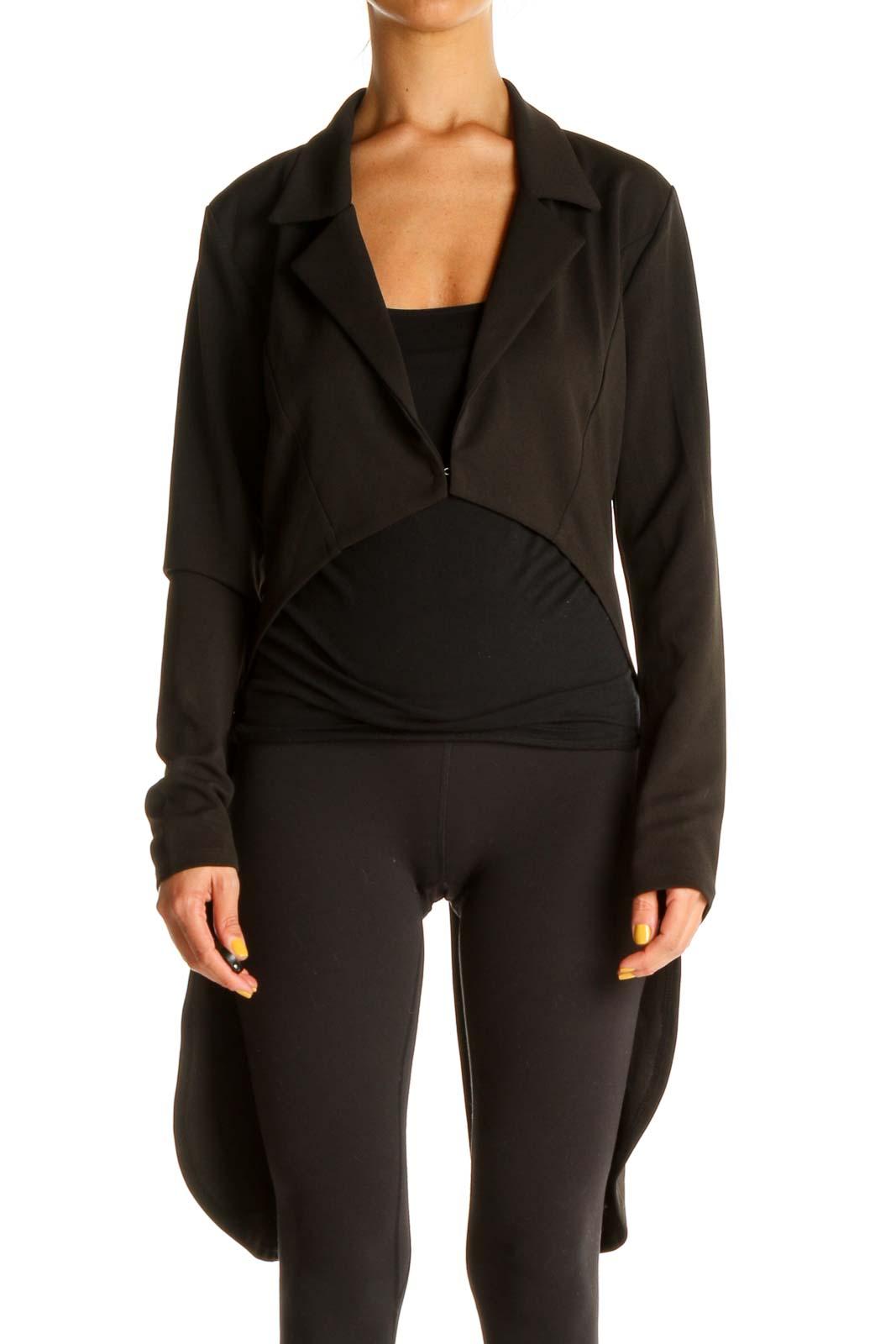 Black High-Low Jacket Front