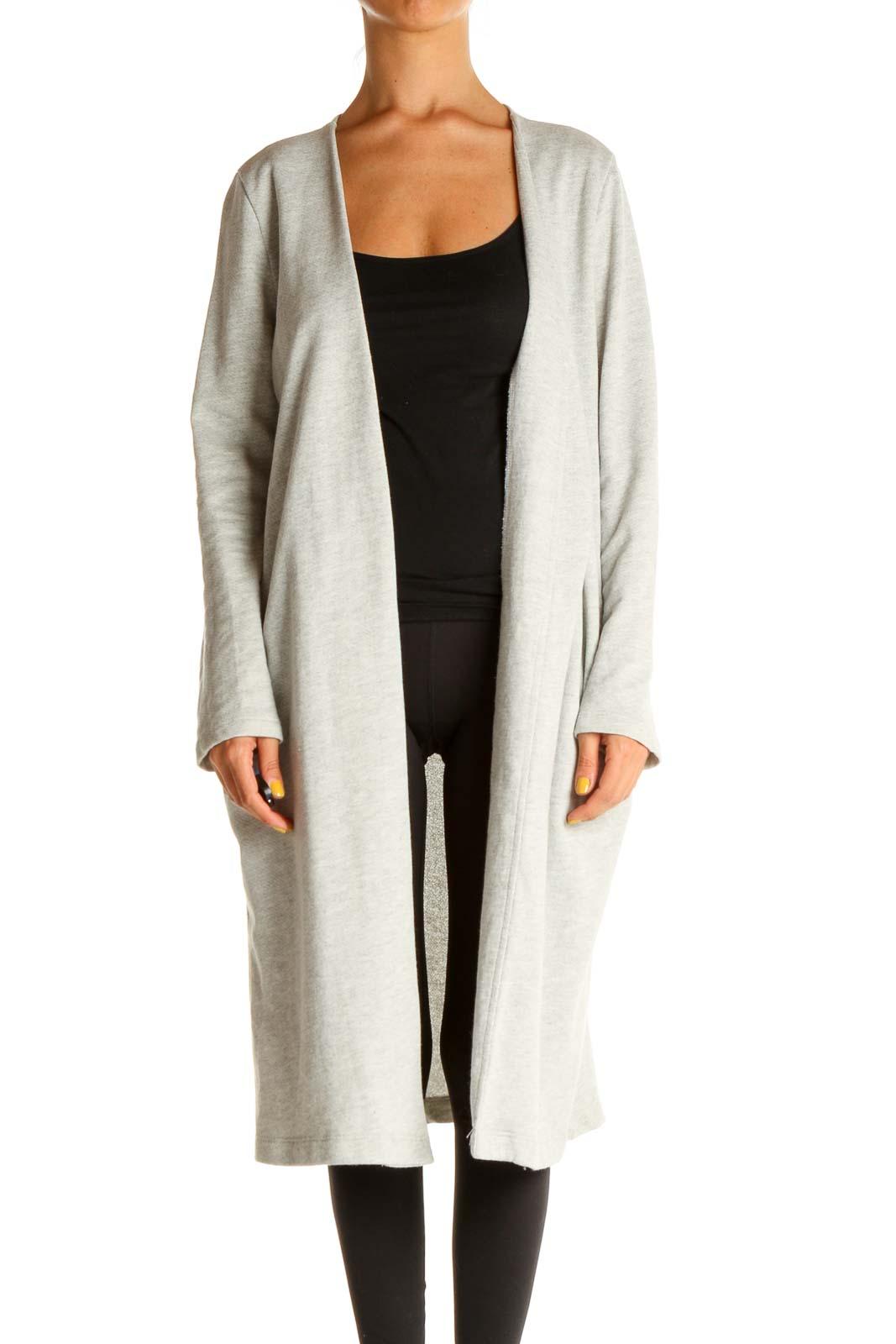 Gray Lightweight Coat Front