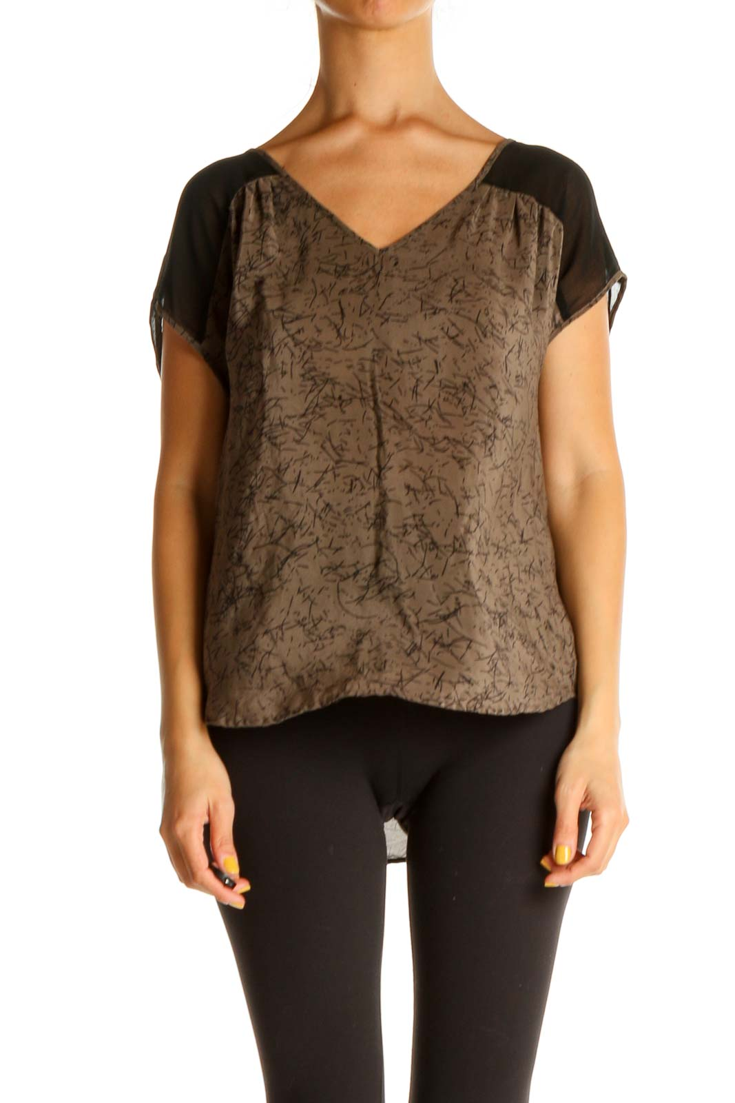 Brown All Day Wear Blouse Front