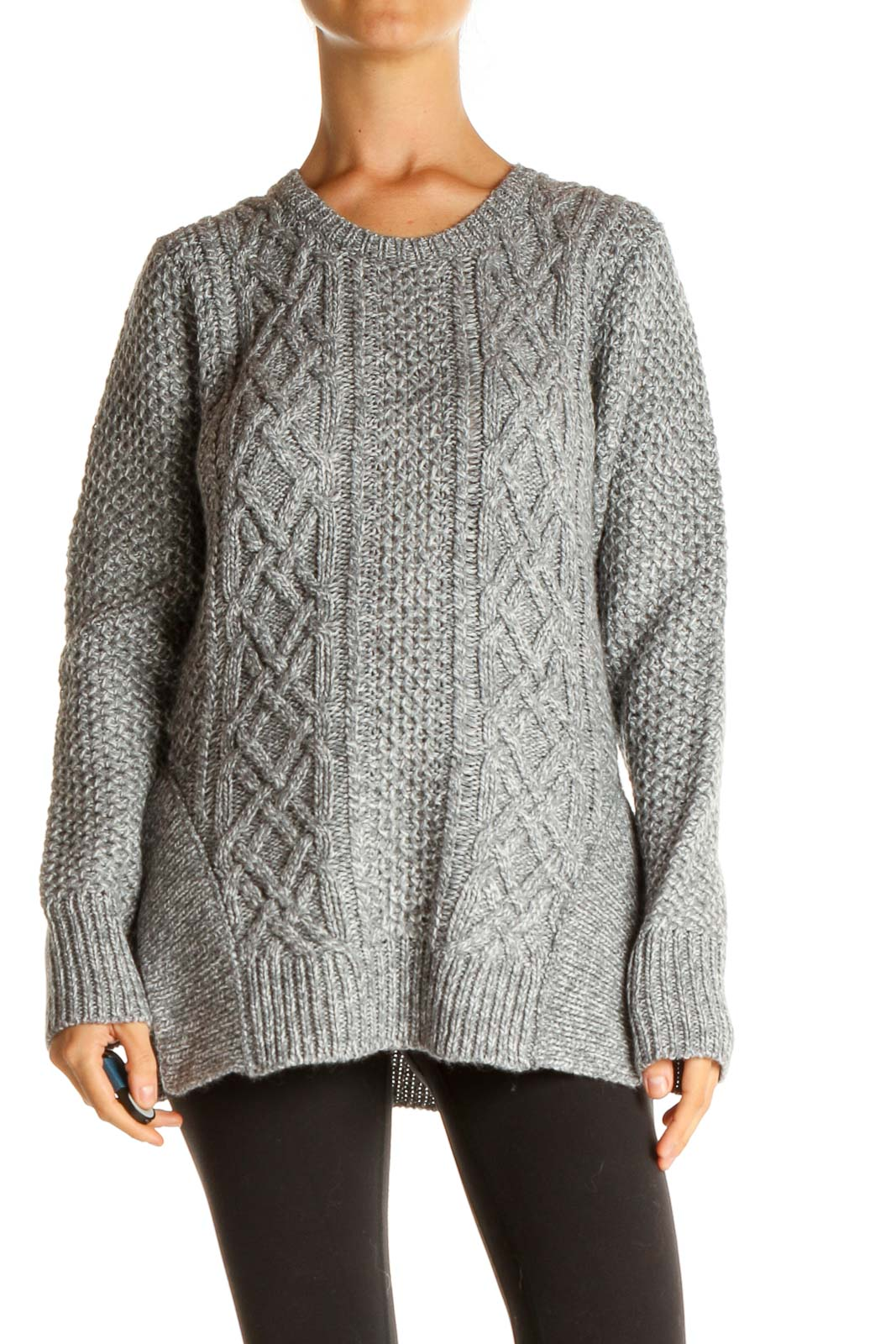 Gray All Day Wear Sweater Front