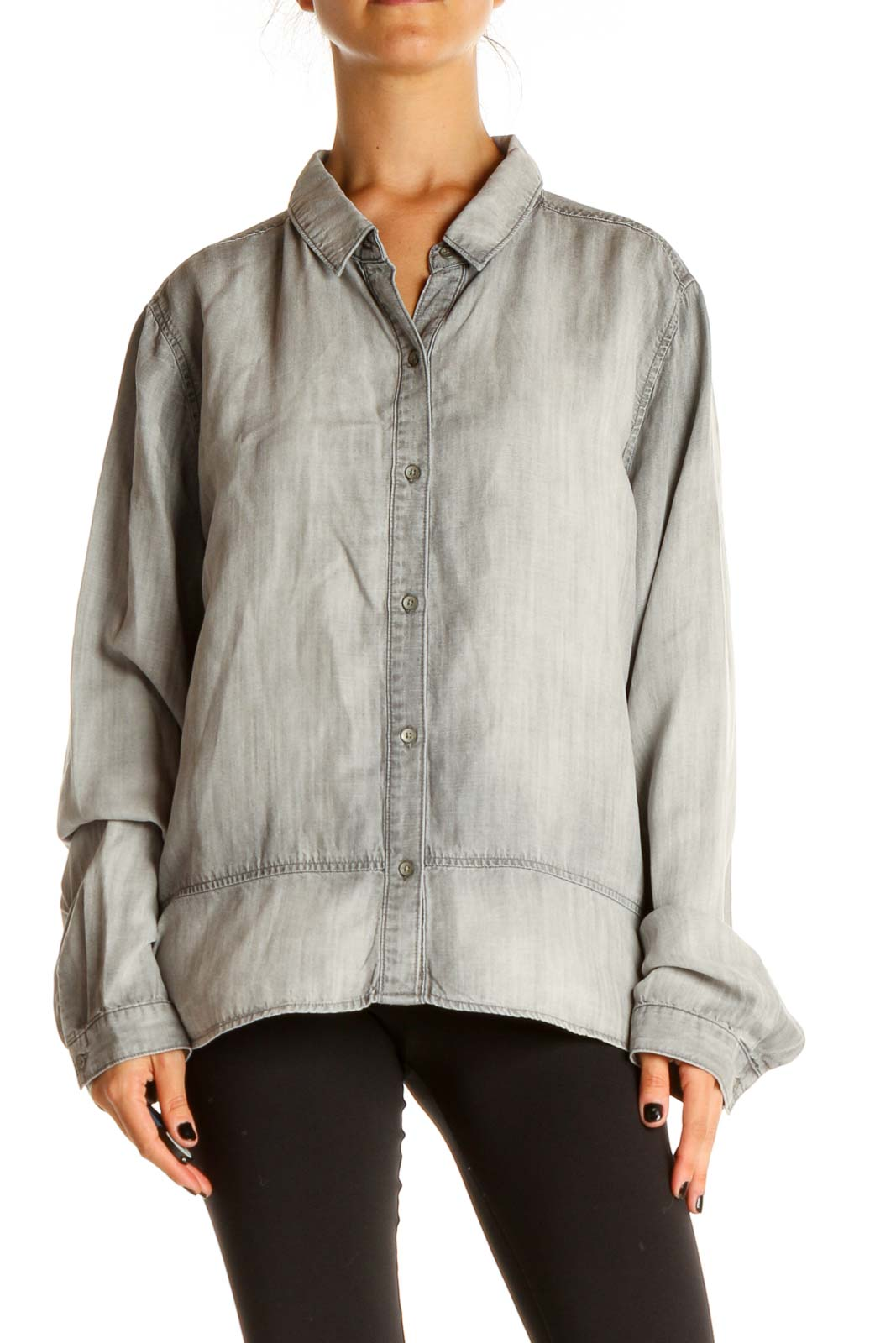 Gray All Day Wear Shirt Front
