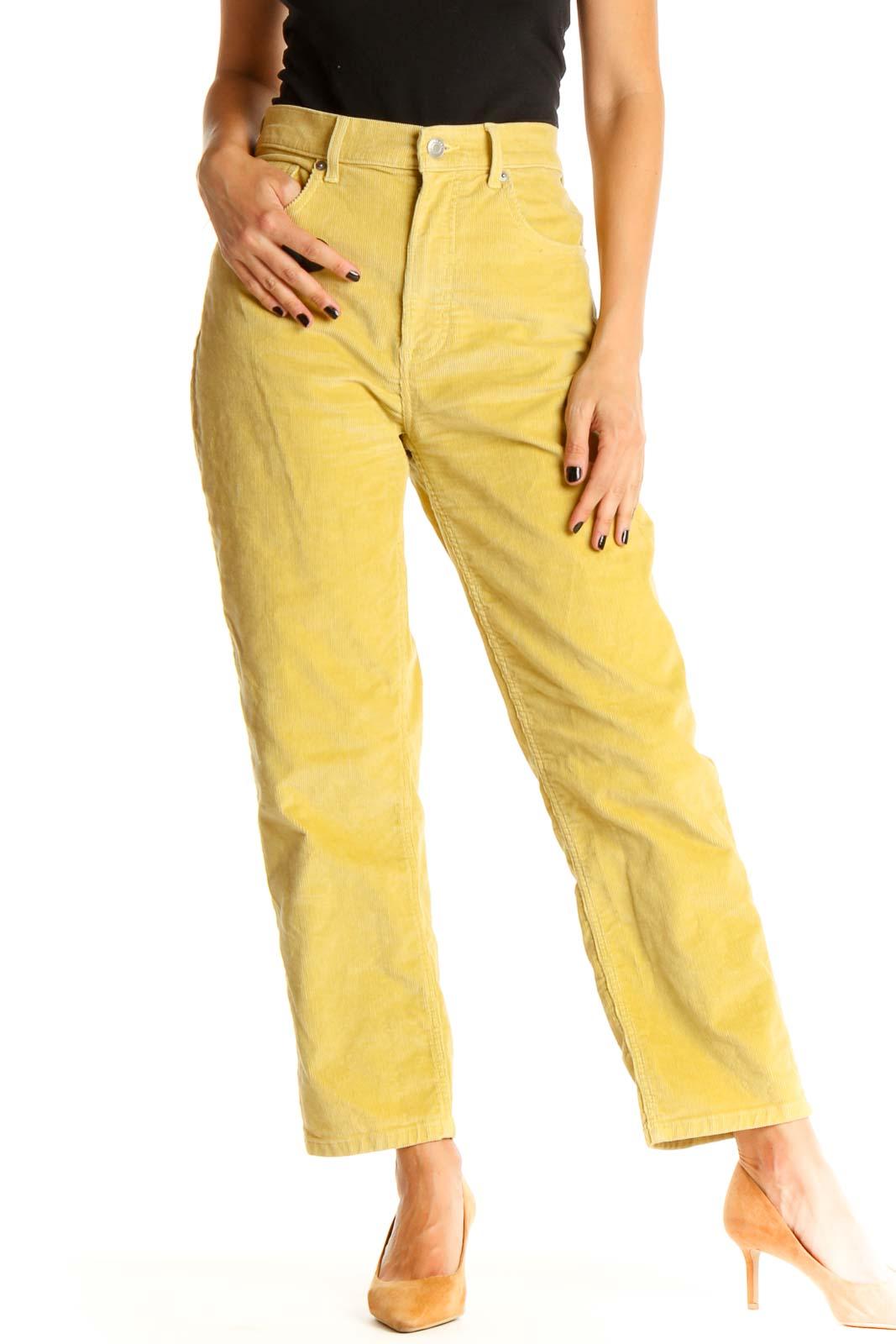 Yellow Brunch Pants Front