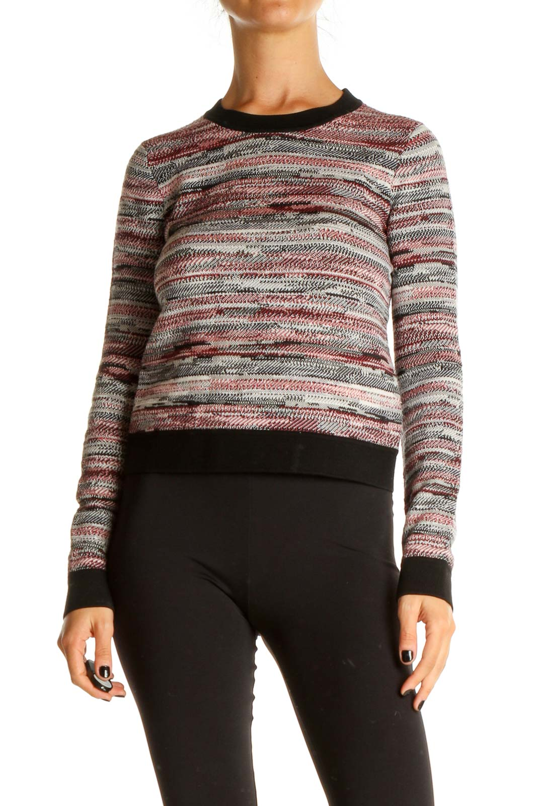 Red Striped Brunch Sweater Front