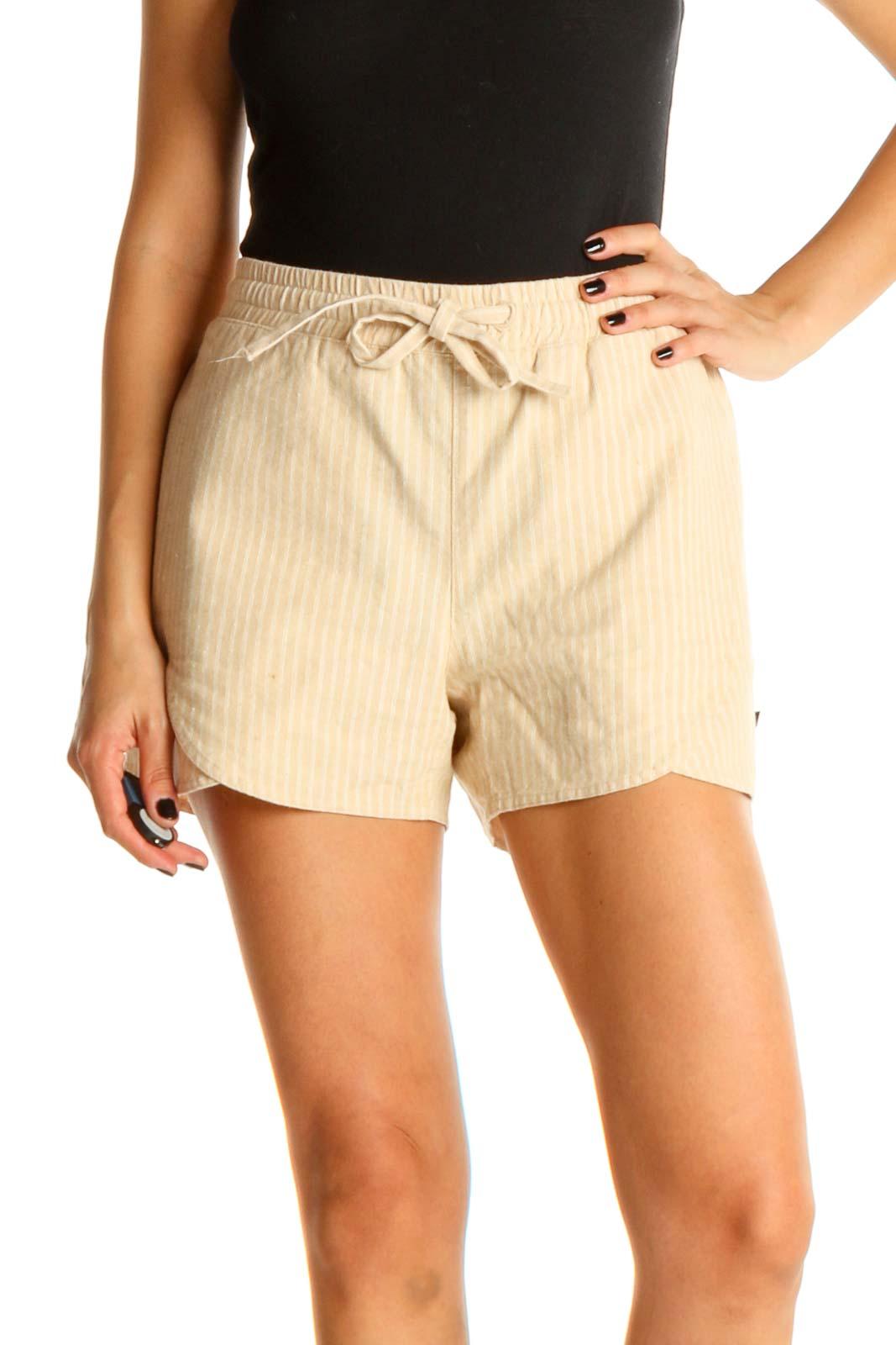 Beige Brunch Shorts Front
