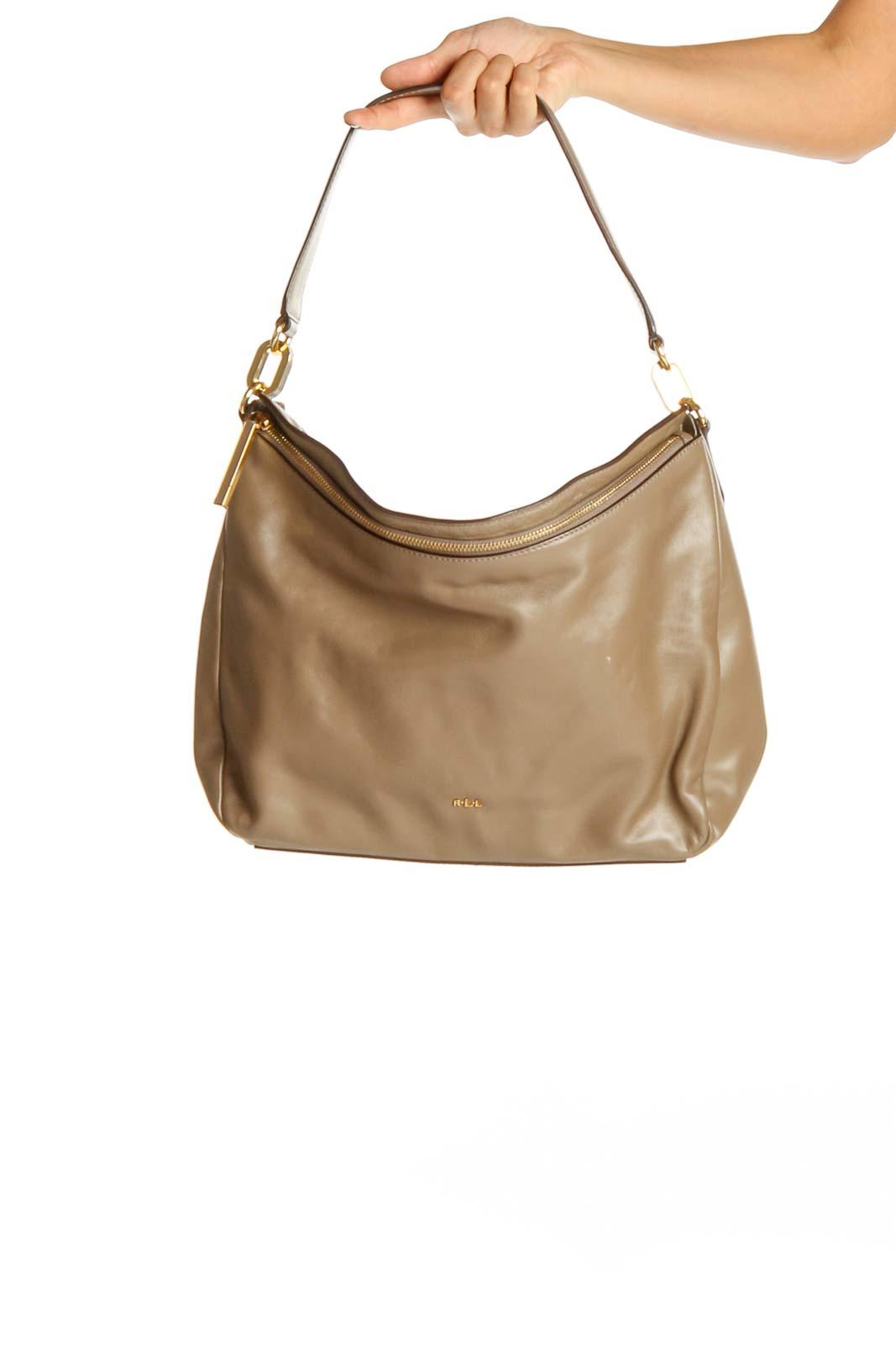 Brown Tan Bag Front