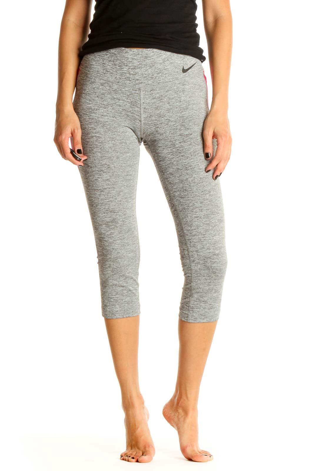 Gray Activewear Leggings Front