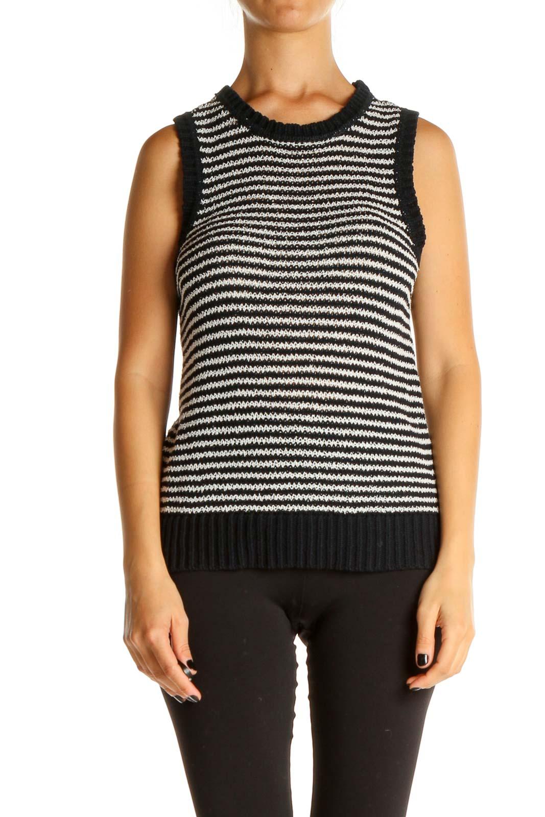Black Striped Brunch Sweater Front