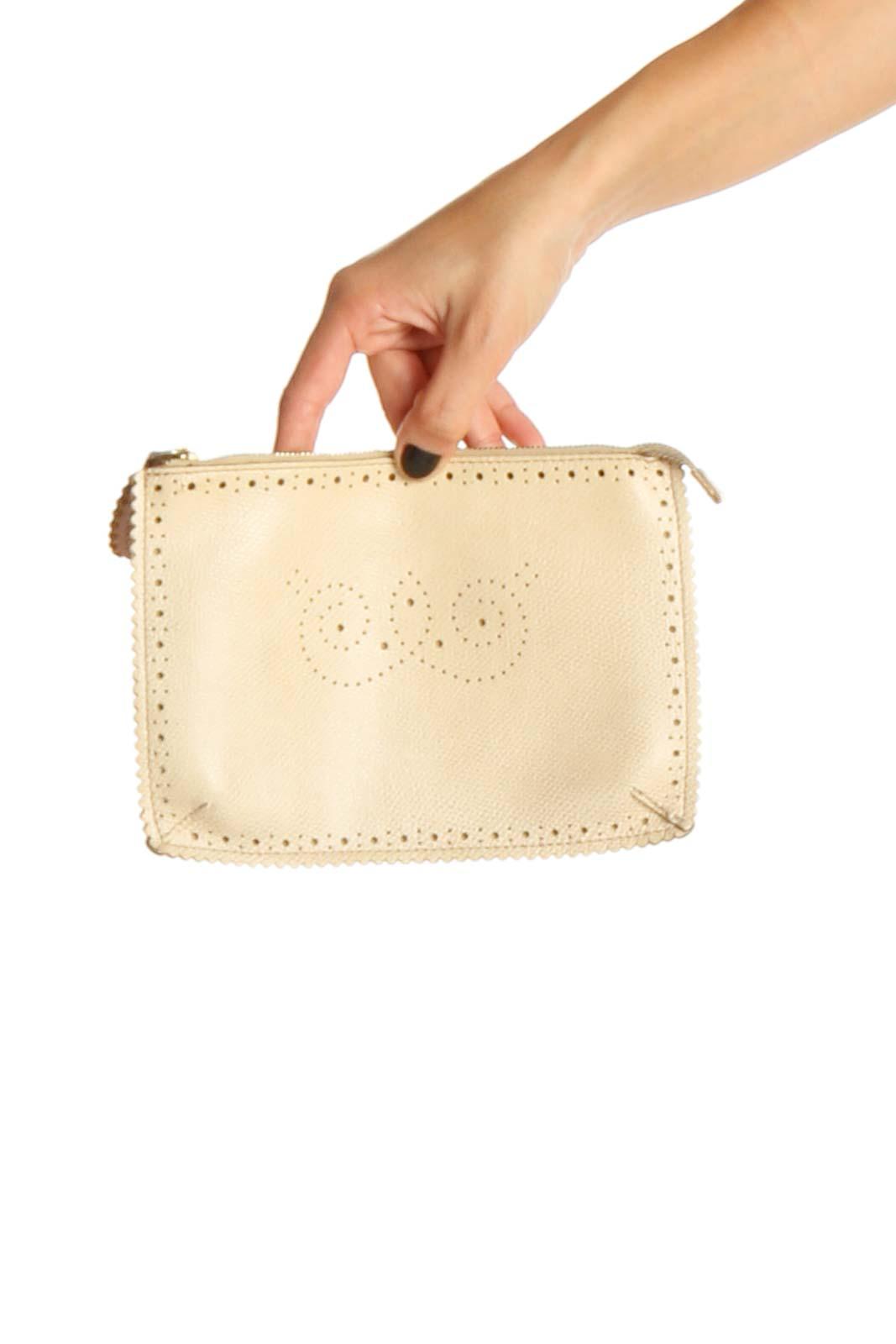 Beige Clutch Bag Front