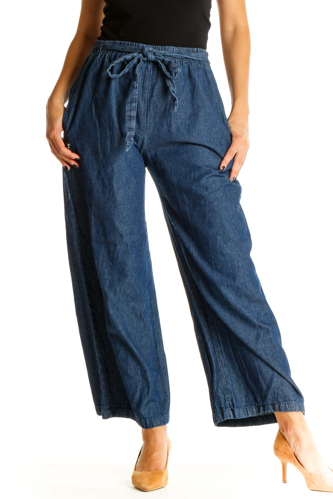 Blue All Day Wear Palazzo Pants Front
