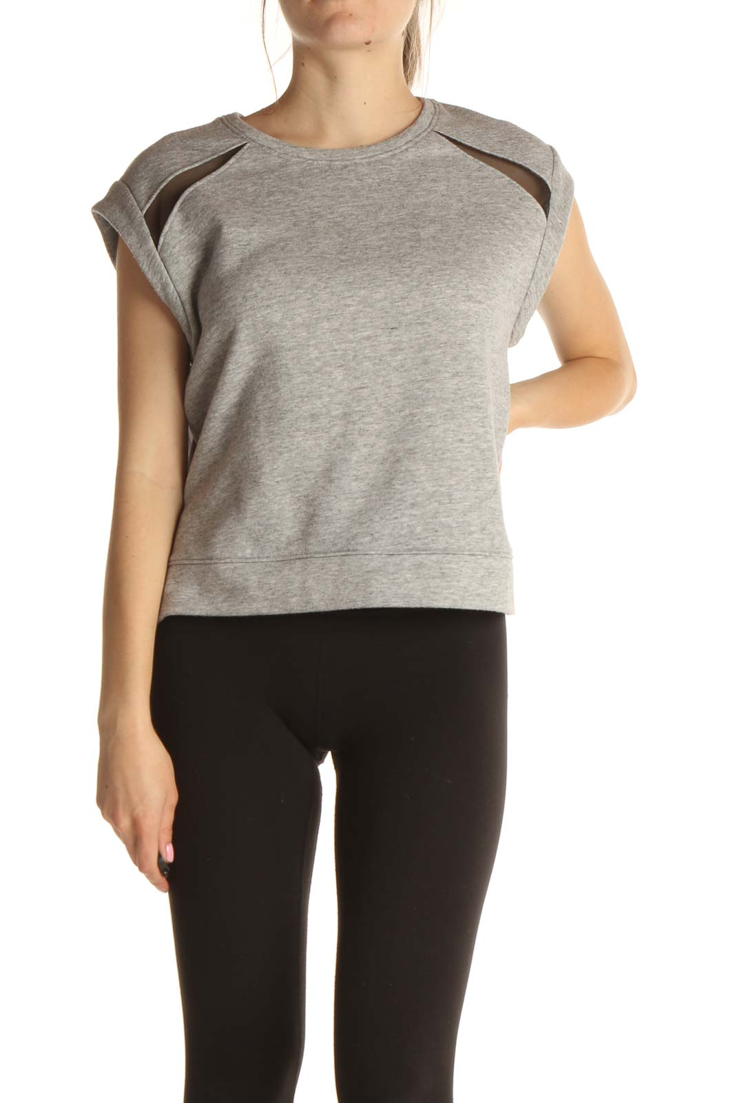 Gray Textured All Day Wear Shirt Front