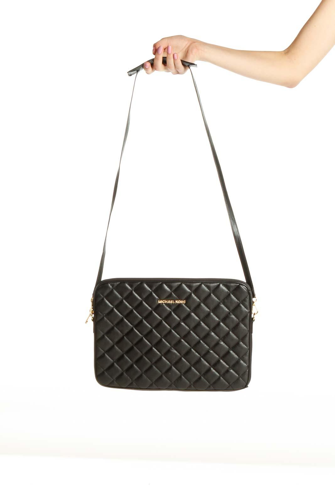 Black Crossbody Tablet Bag Front