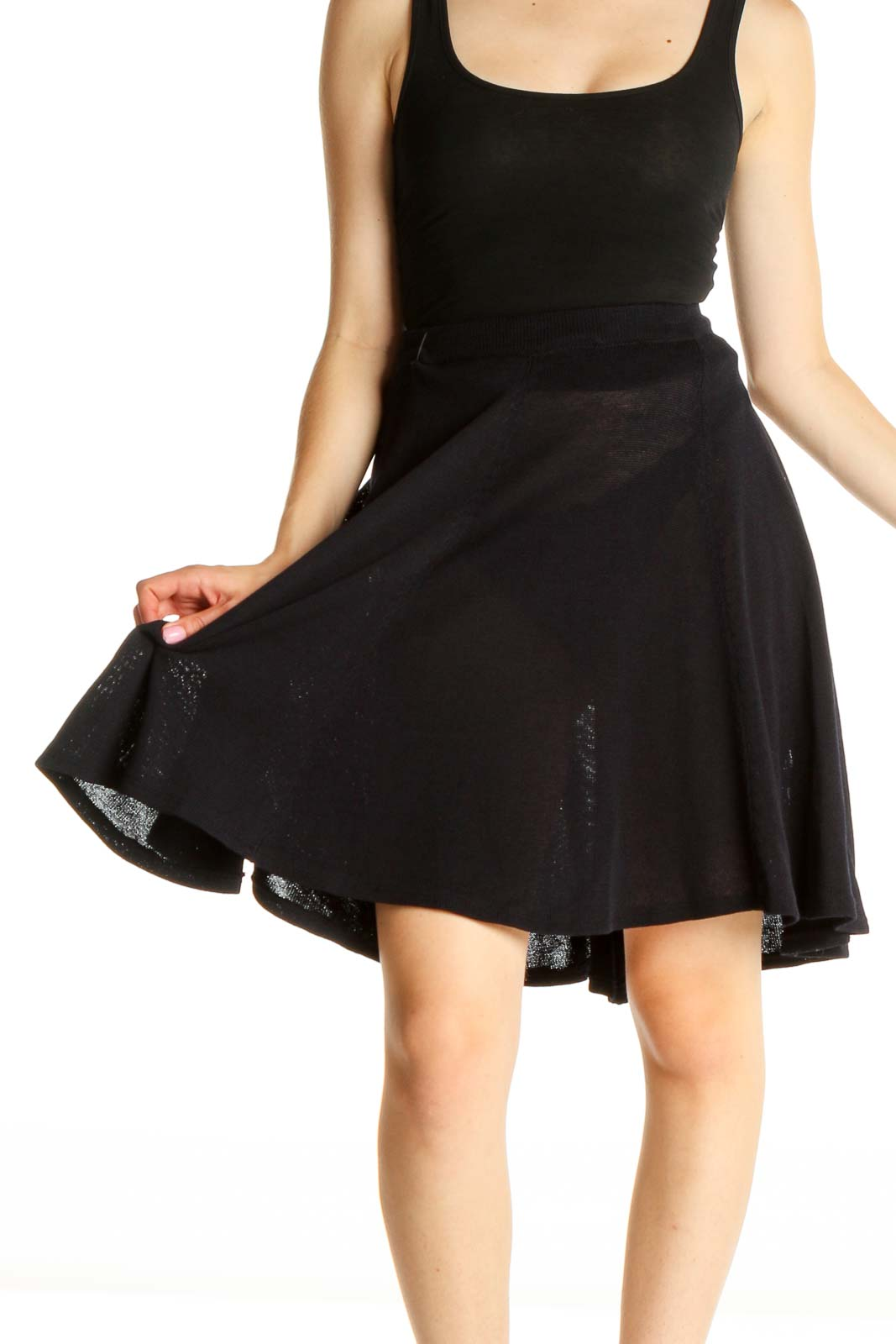 Blue All Day Wear A-Line Skirt Front