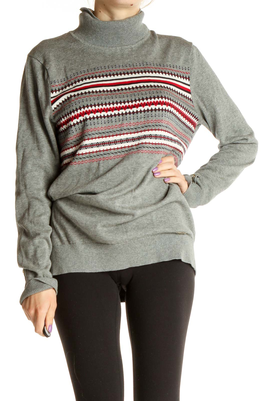 Gray Classic Sweater Front