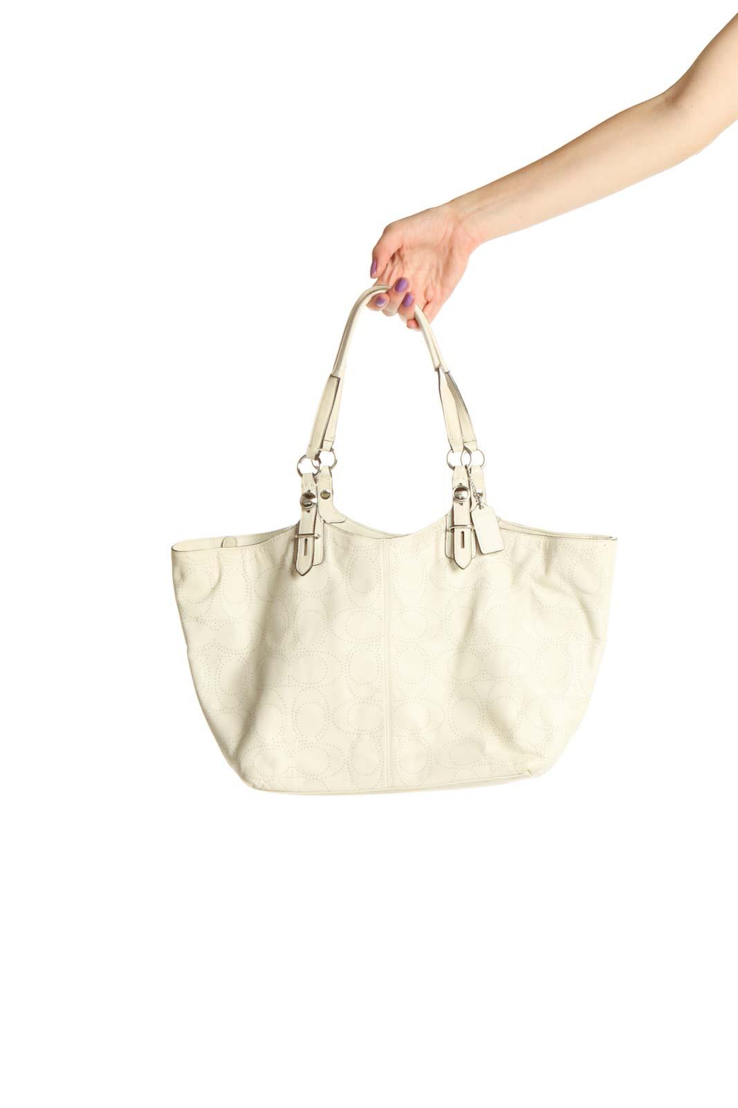 Cream Tote Bag Front
