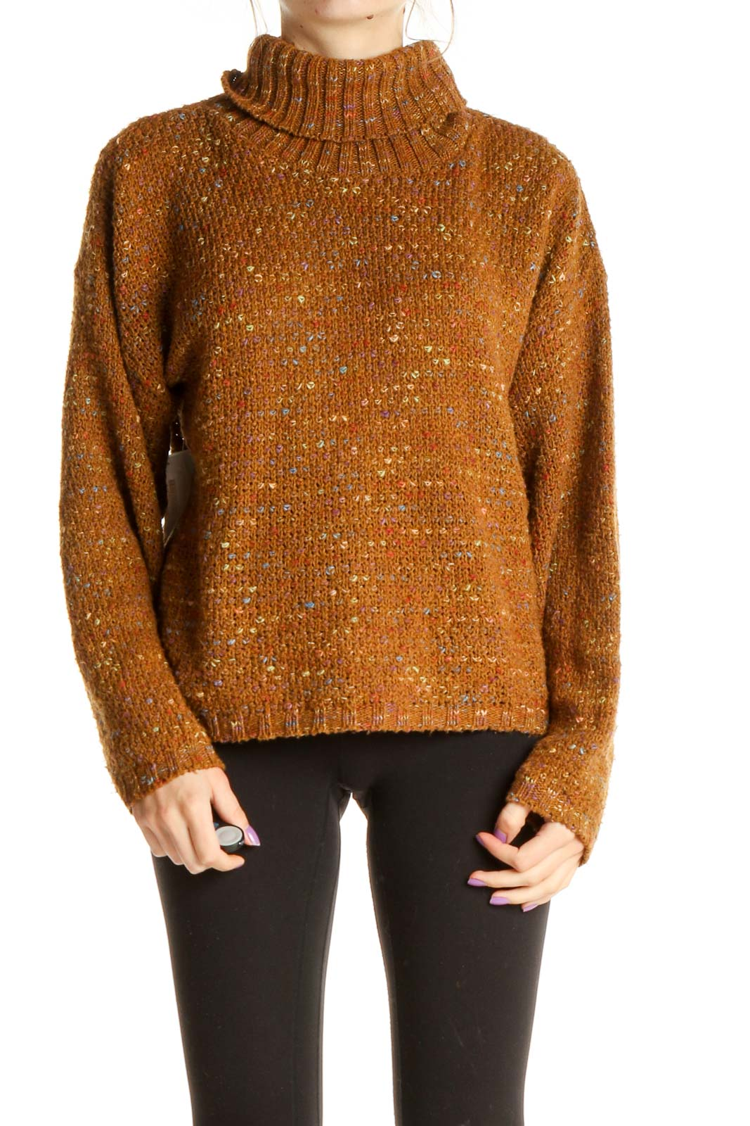 Brown All Day Wear Sweater Front