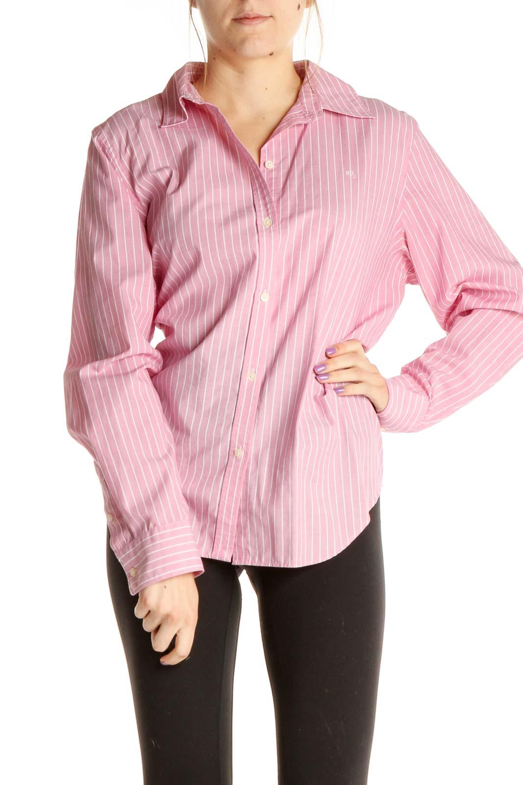 Pink Work Shirt Front