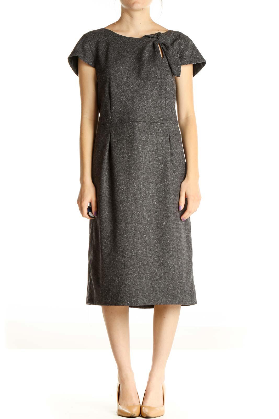 Gray Work Dress Front