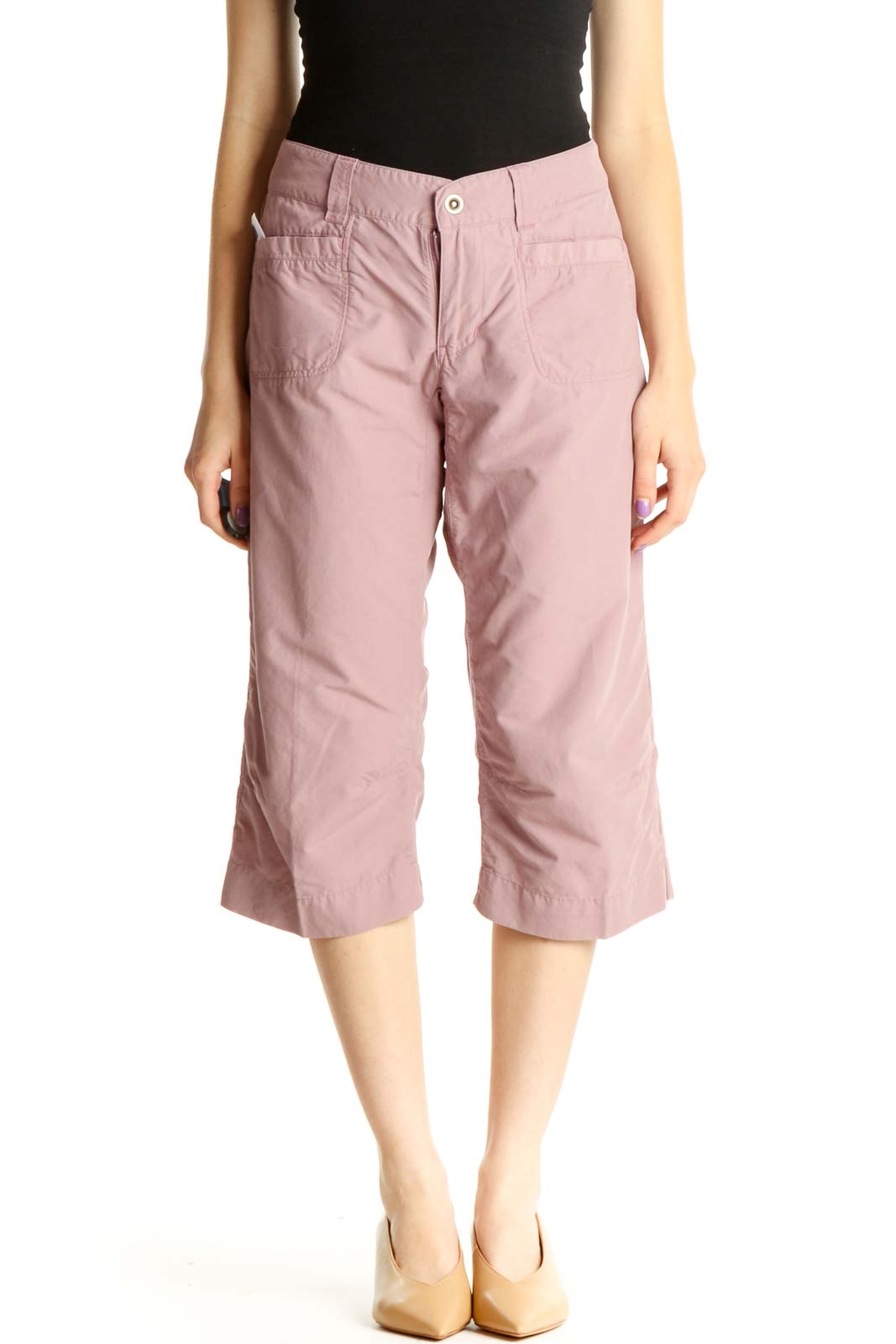 Pink Activewear Cargos Pants Front