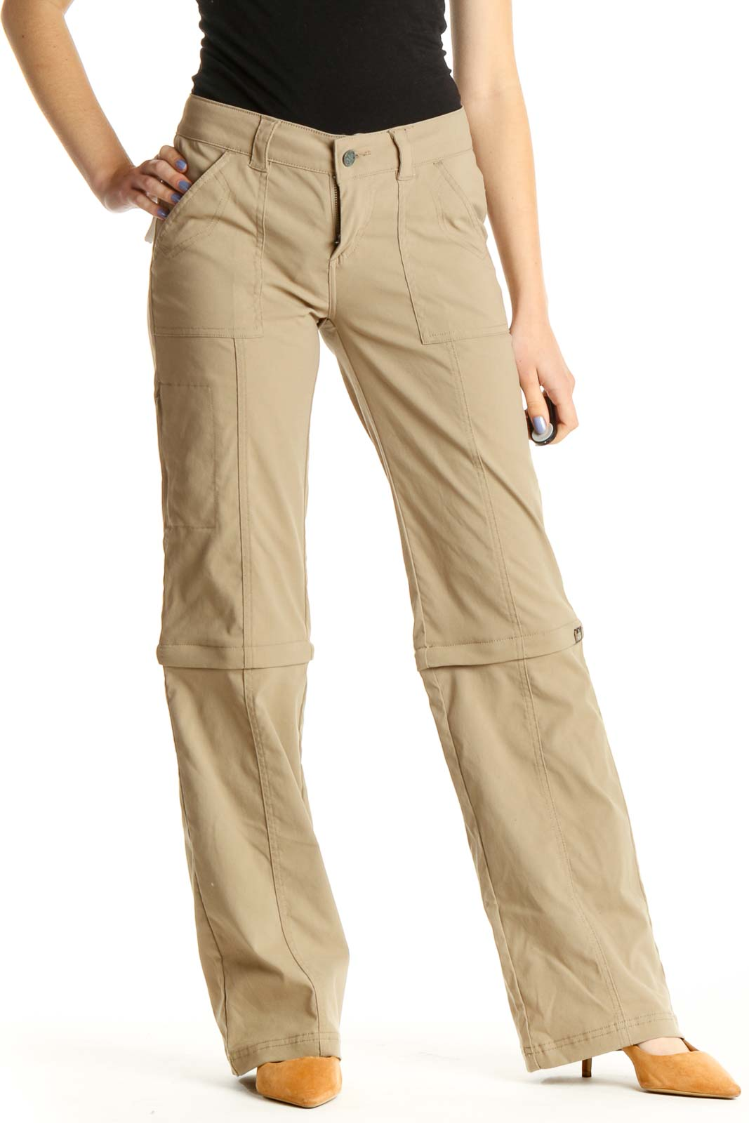 Brown Chic Cargos Pants Front