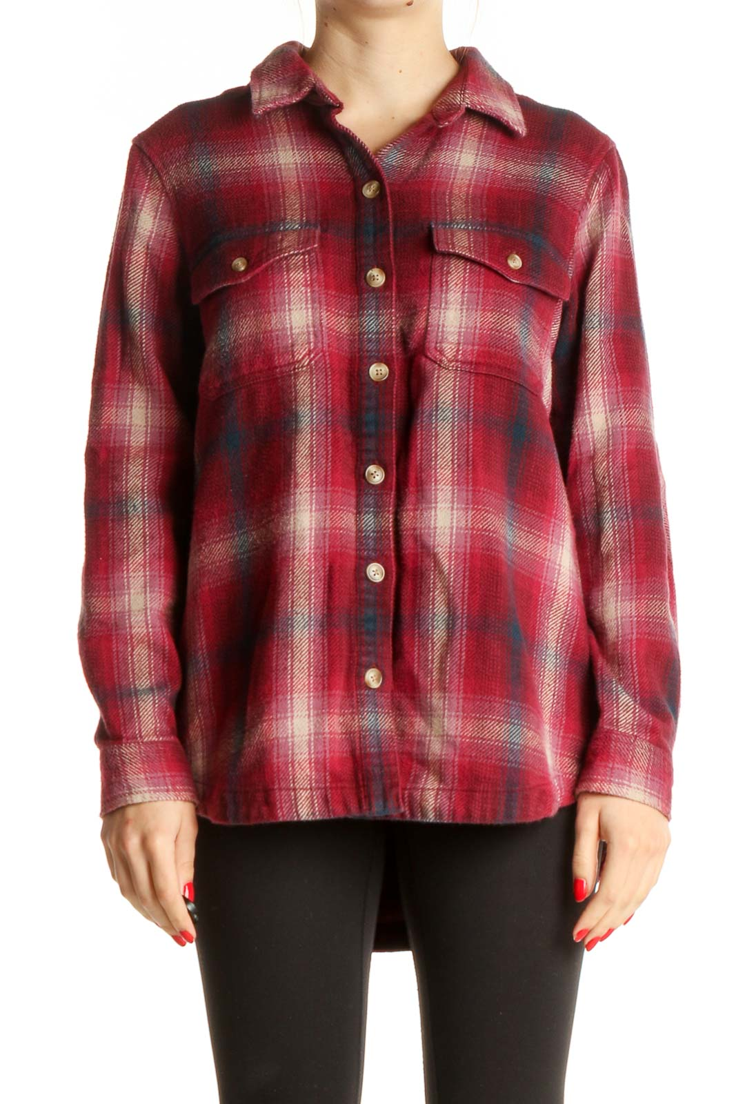 Red Checkered Shirt Front