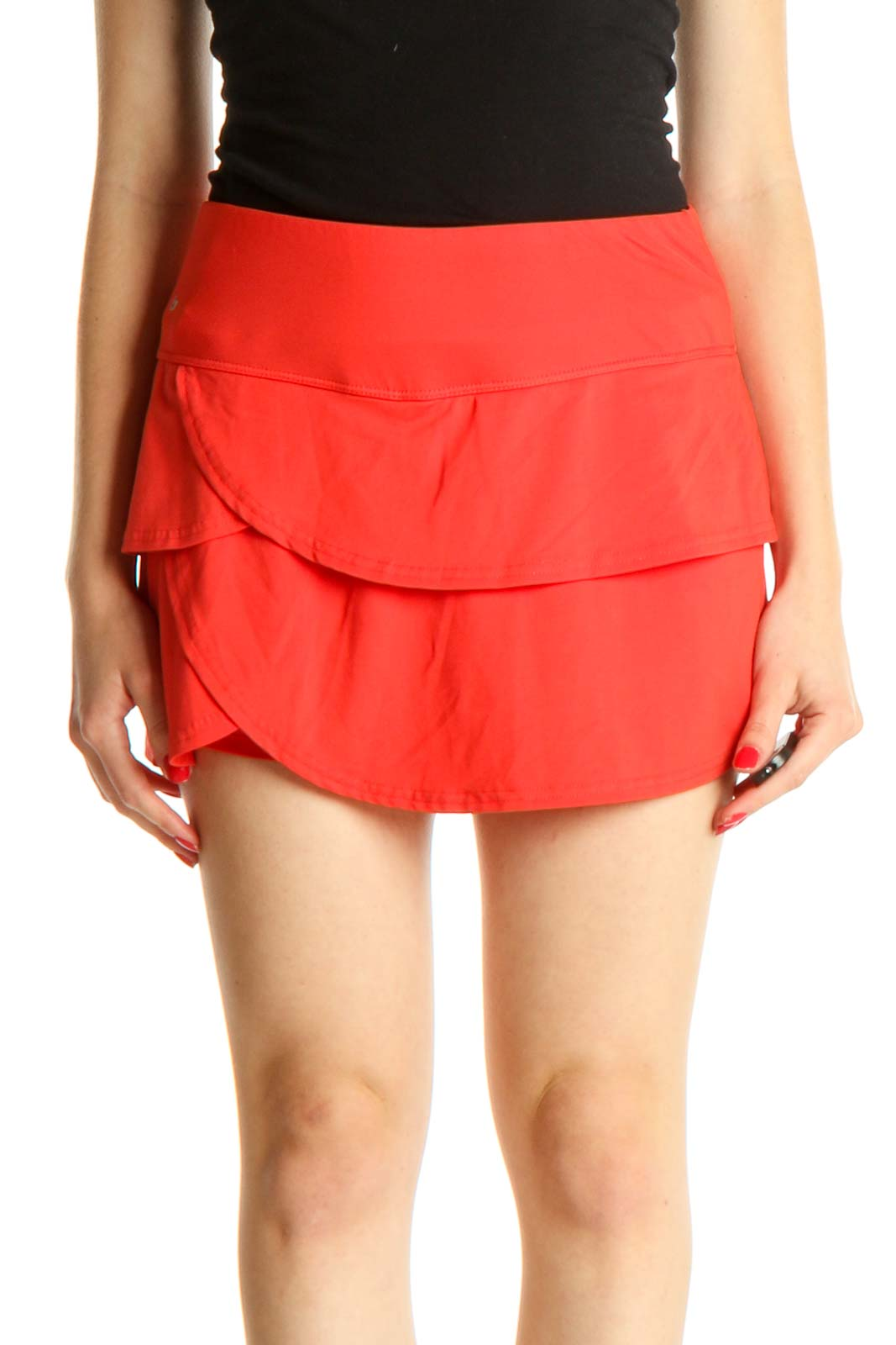 Red Activewear Skirt Front