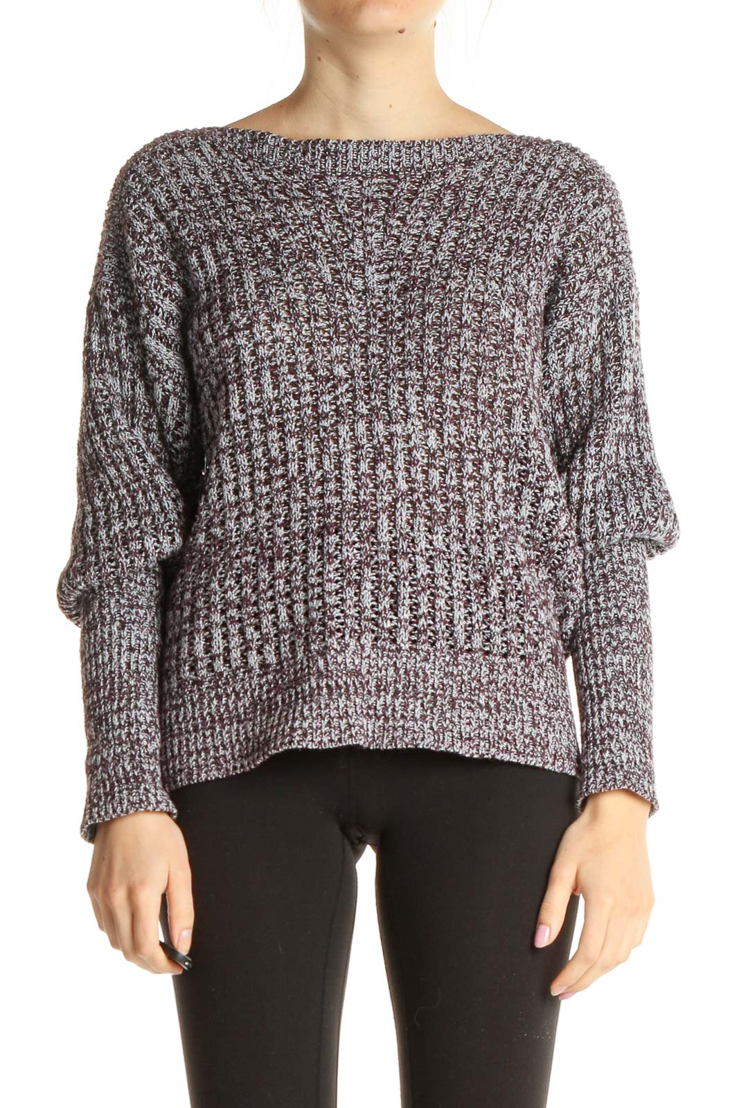 Gray Chic Sweater Front