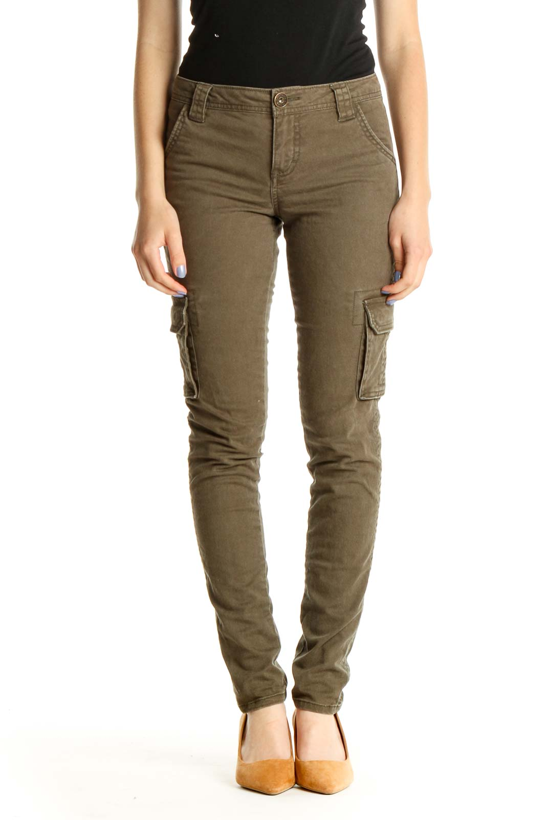 Brown Skinny Jeans Front