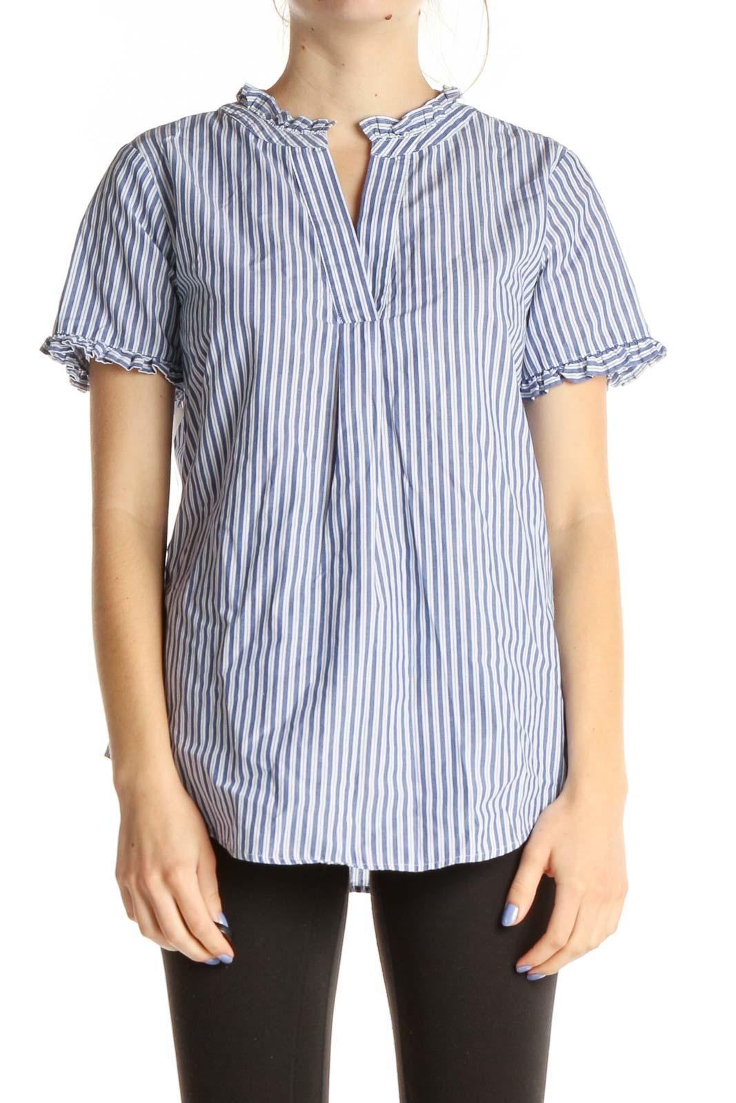 Blue Striped Brunch Shirt Front