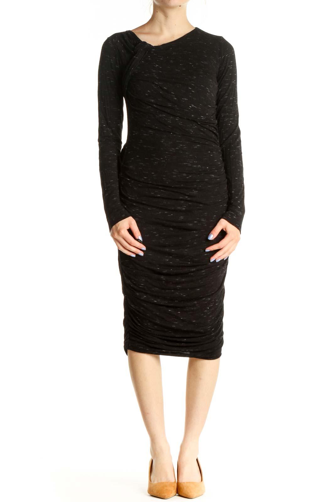 Gray Classic Sheath Dress Front