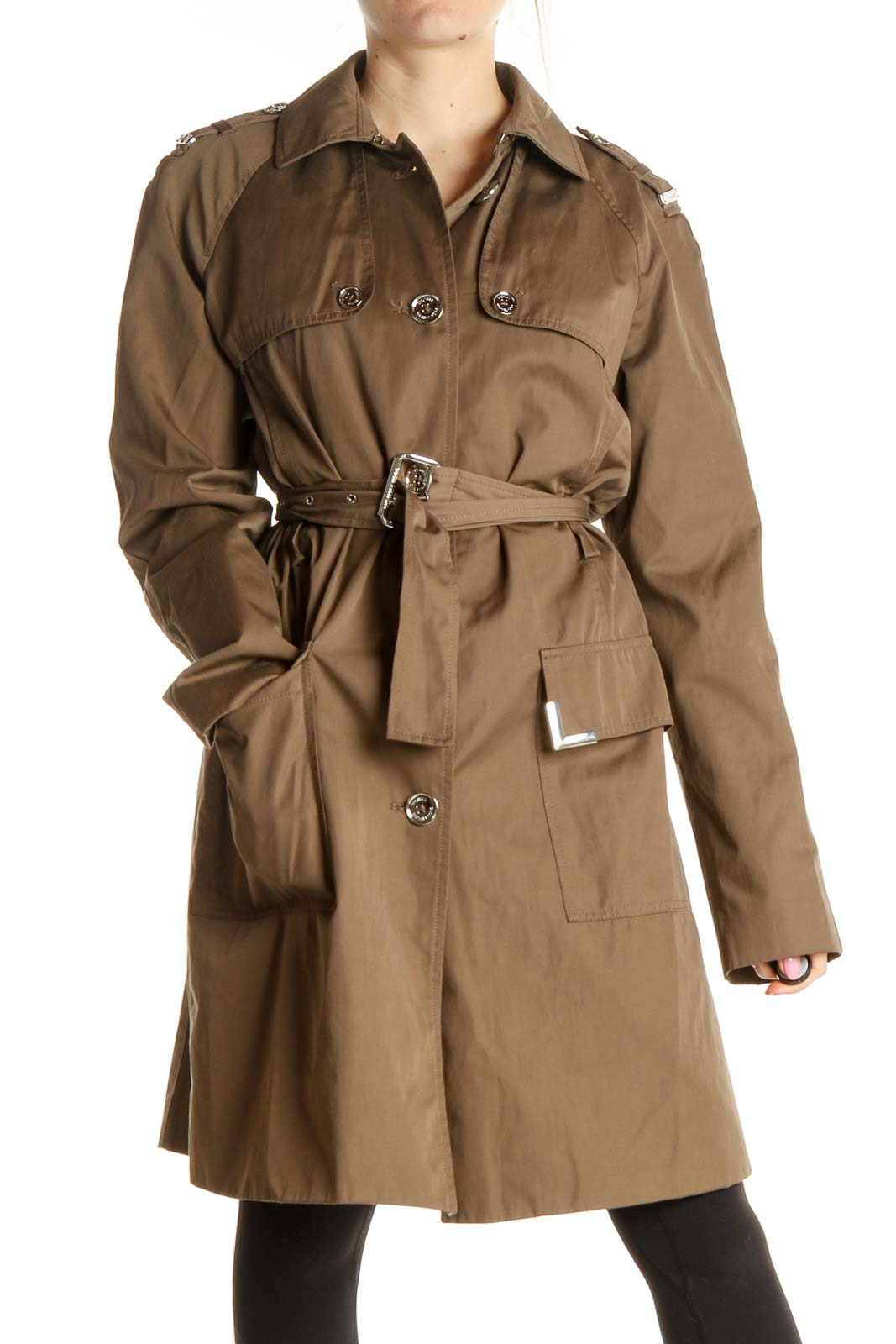Brown Trenchcoat Front