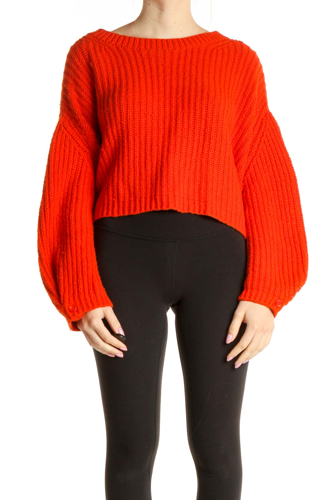 Red Chic Sweater Front